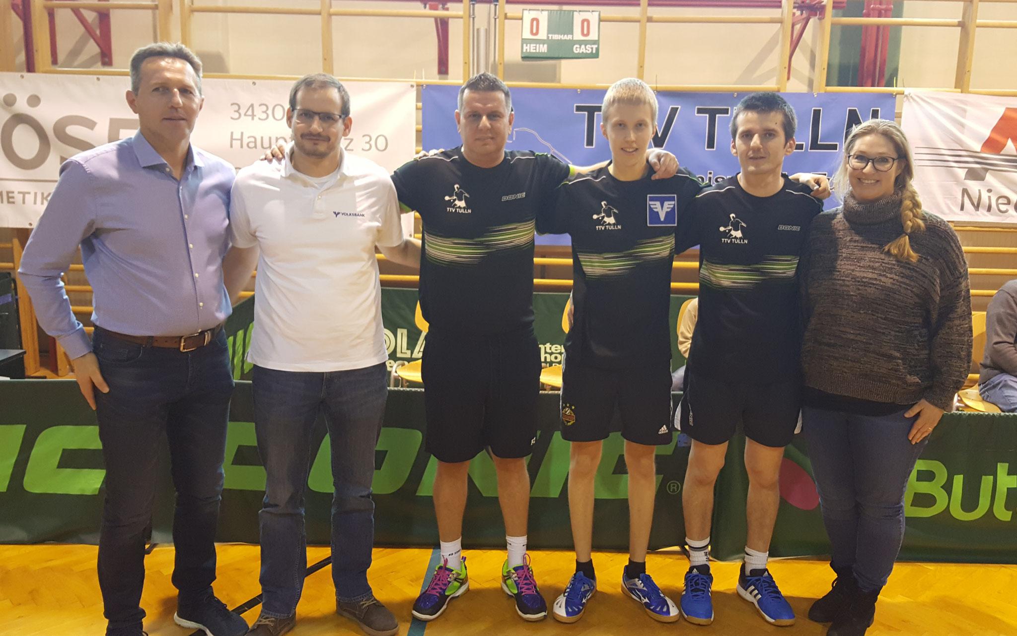 Meistertitel in der 2. Landesliga (2017/18) mit Wolfgang Mayrhofer, Markus Francan und Birgitt Krenn-Bösel