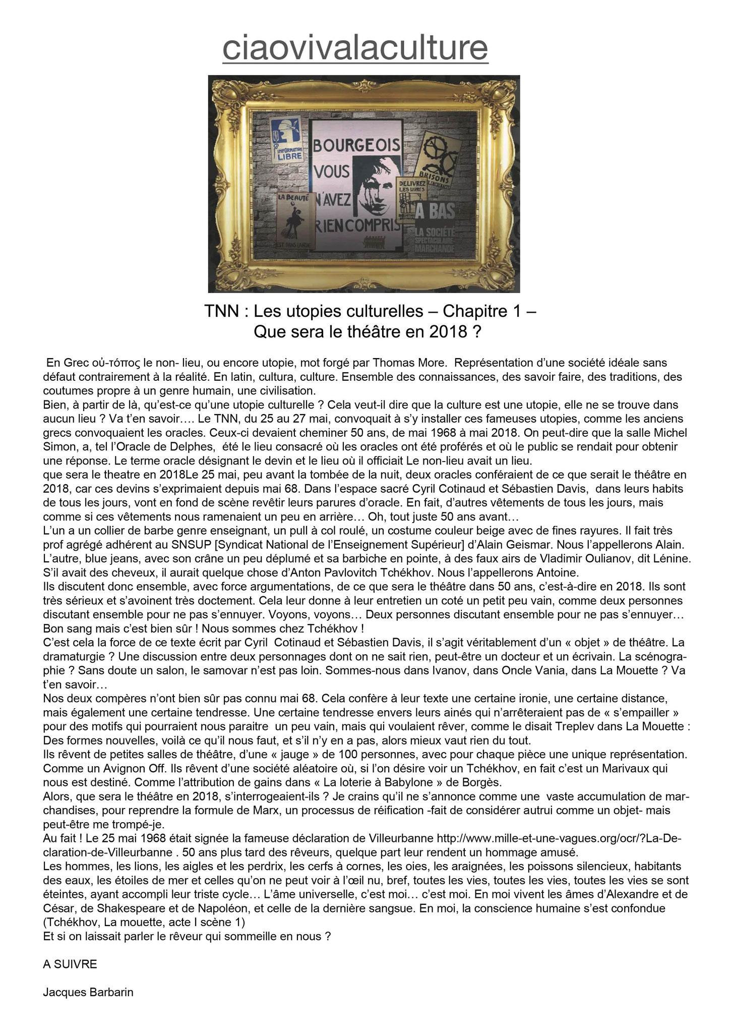 CIAOVIVALACULTURE - Jacques Barbarin - Mai 2018