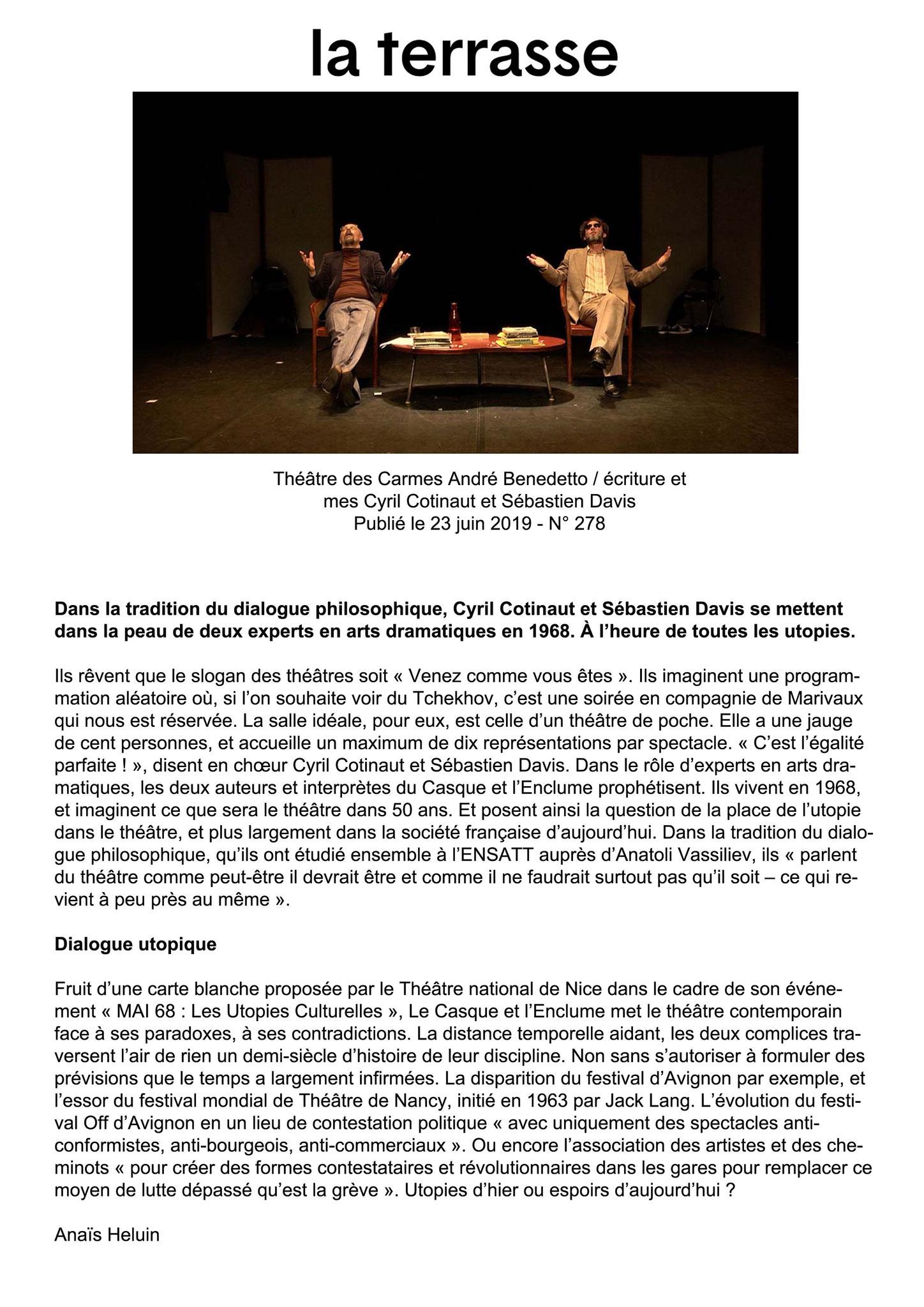 LA TERRASSE - Anaïs Heluin - 23 Juin 2019
