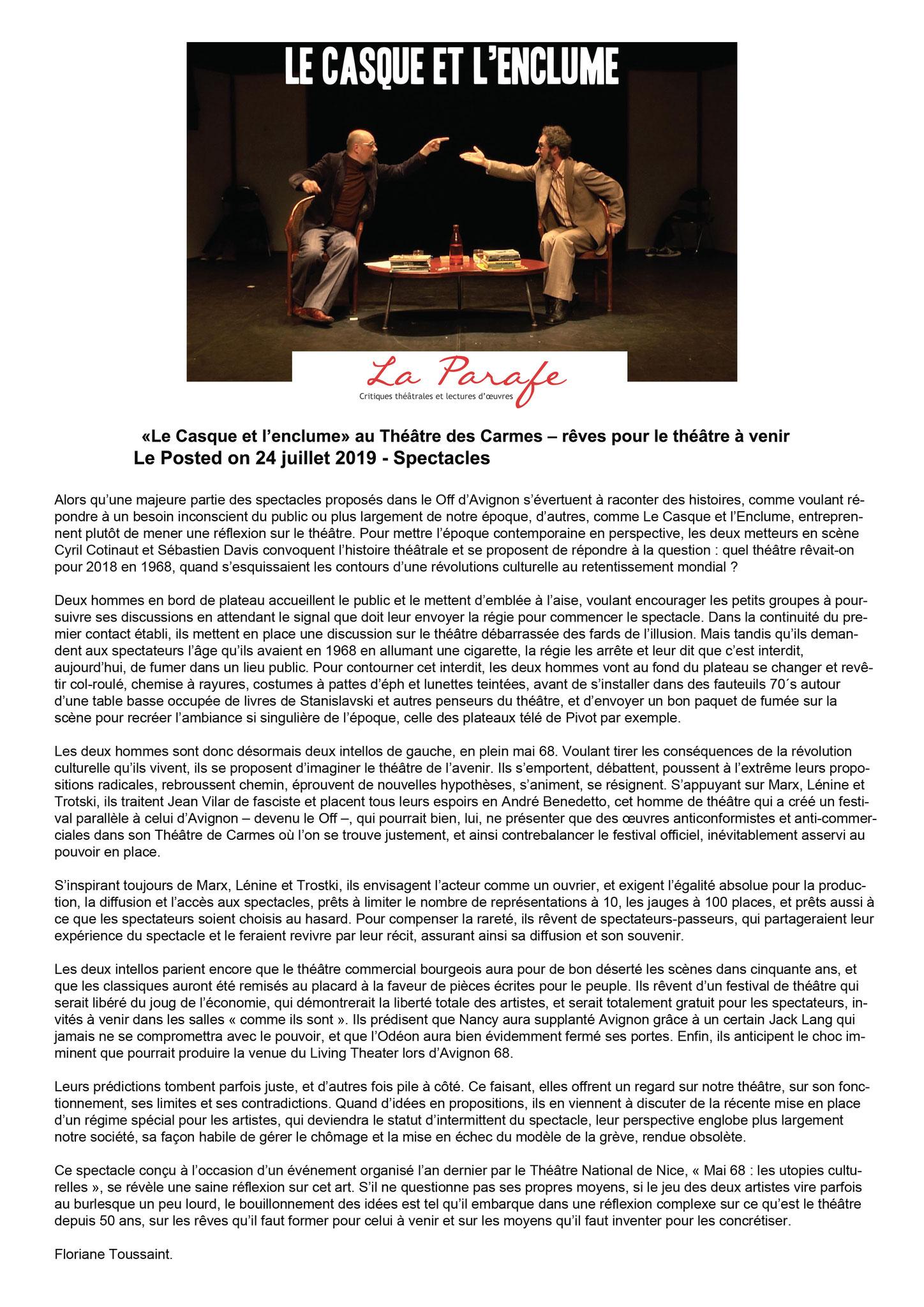 LA PARAFE - Floriane Toussaint - Juillet 2019