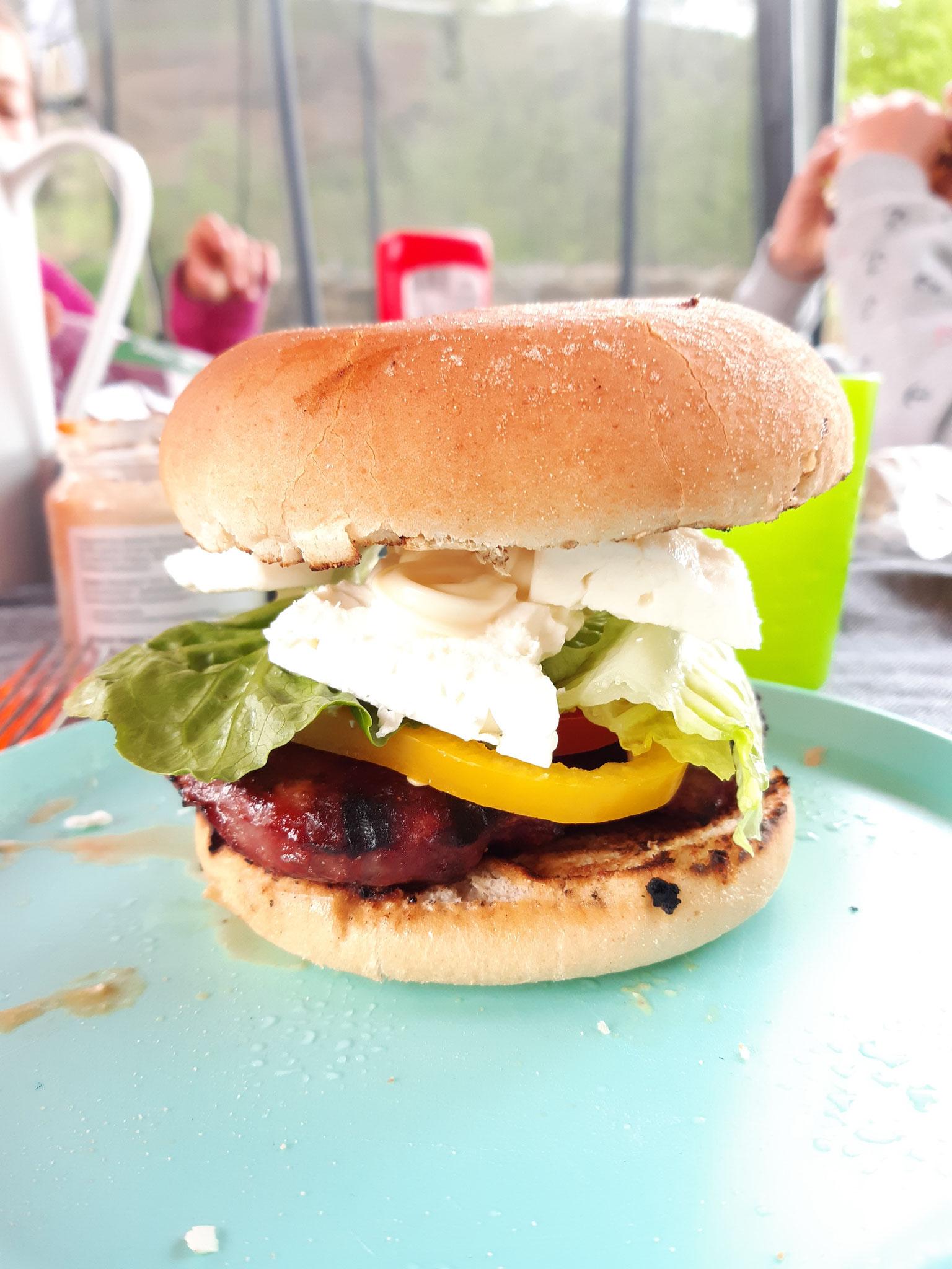 ein Genuss... 100% Bio-Rinds-Burger  Patties geformt und gewürzt / Vakuumverpackt gefroren