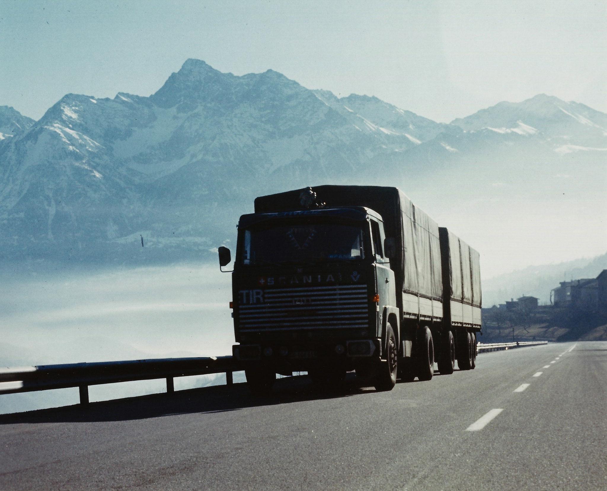 Scania LB 140 am Grossen St. Bernhard