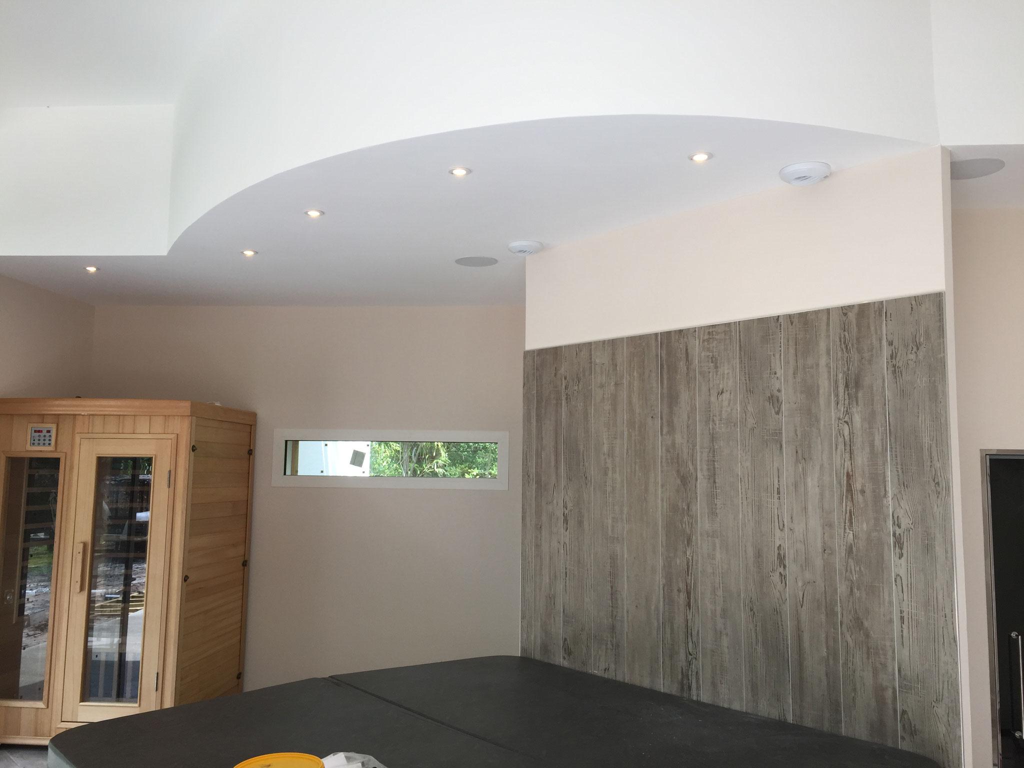 Dubosc plâtrerie faux plafond cintré et contre cloison  Arès