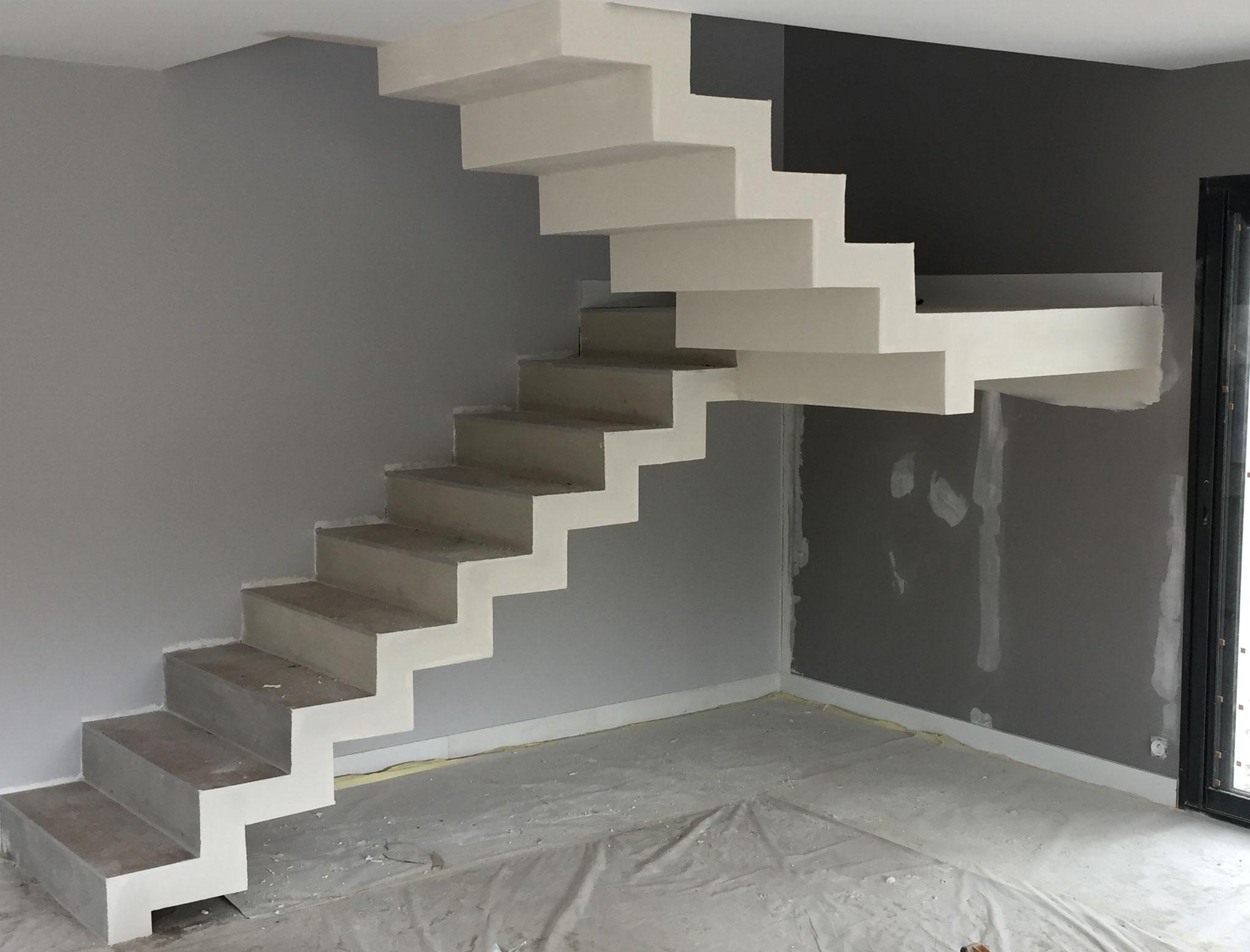 Dubosc Plâtrerie Enduit plâtre escalier Andernos