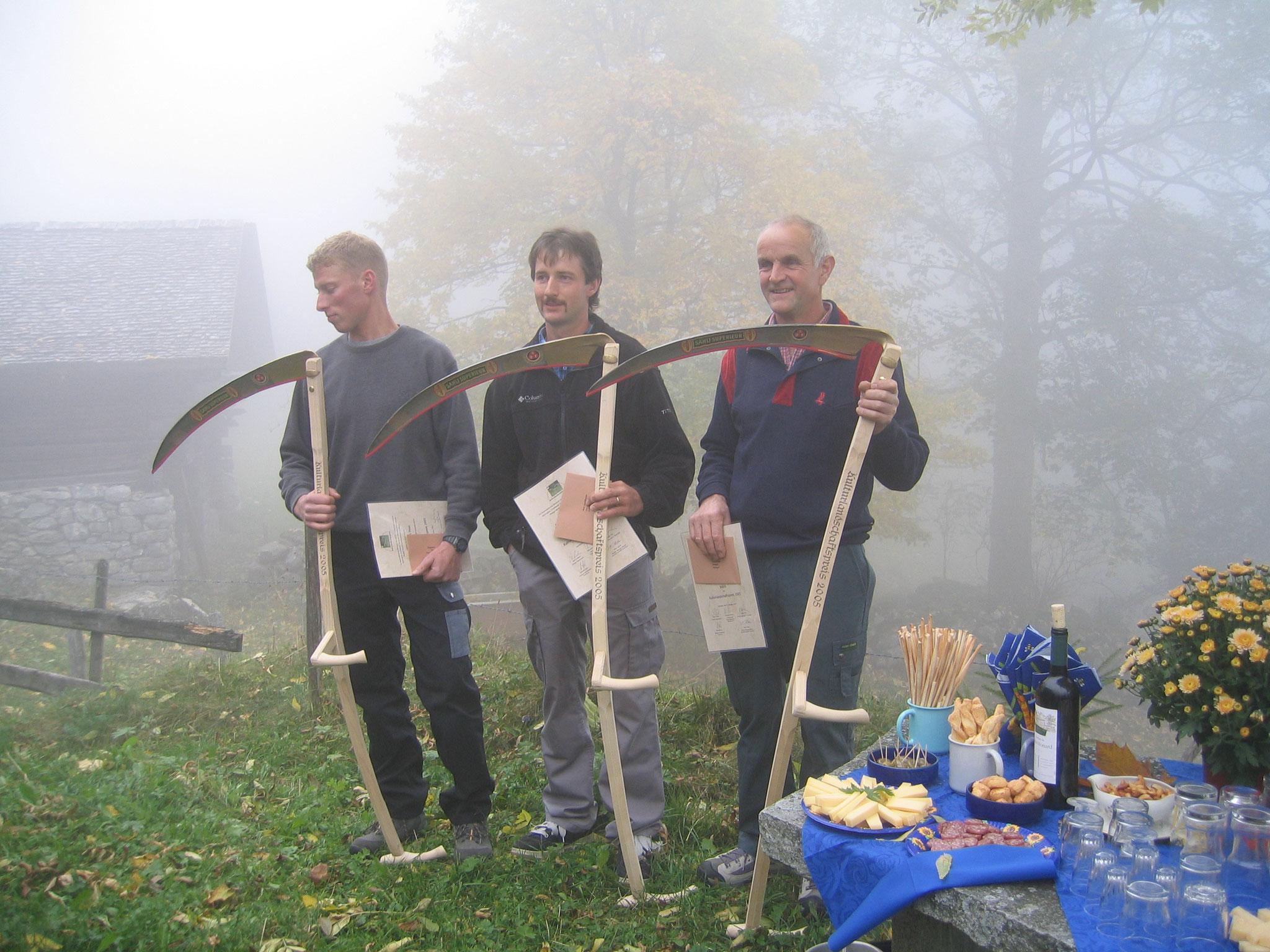 Die ersten drei Gewinner des Kulturlandschaftspreises