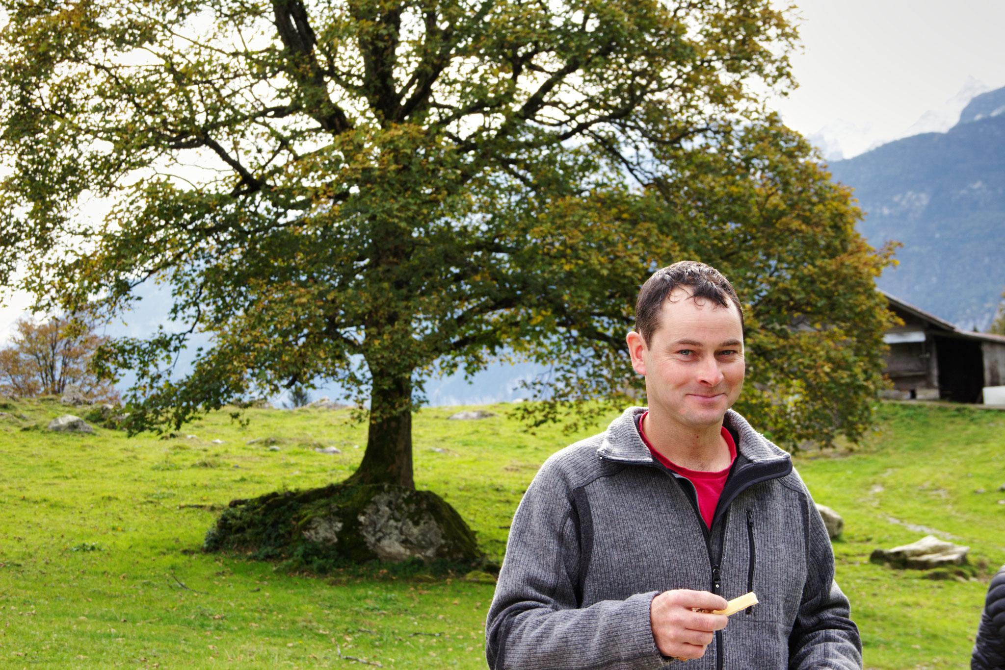 Otto Duber von der Alpgenossenschaft Brüniger Älpeli freute sich über den Kulturlandschaftspreis.