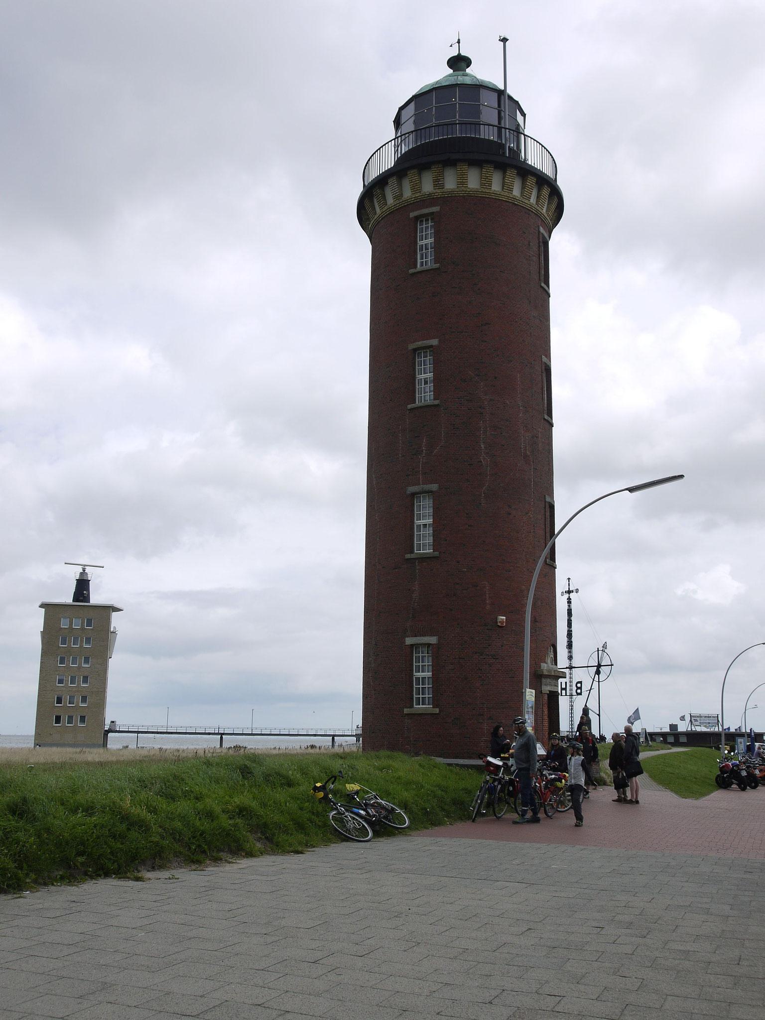 Hamburger Leuchturm, unser End-Endziel an der Alten Liebe Cuxhaven