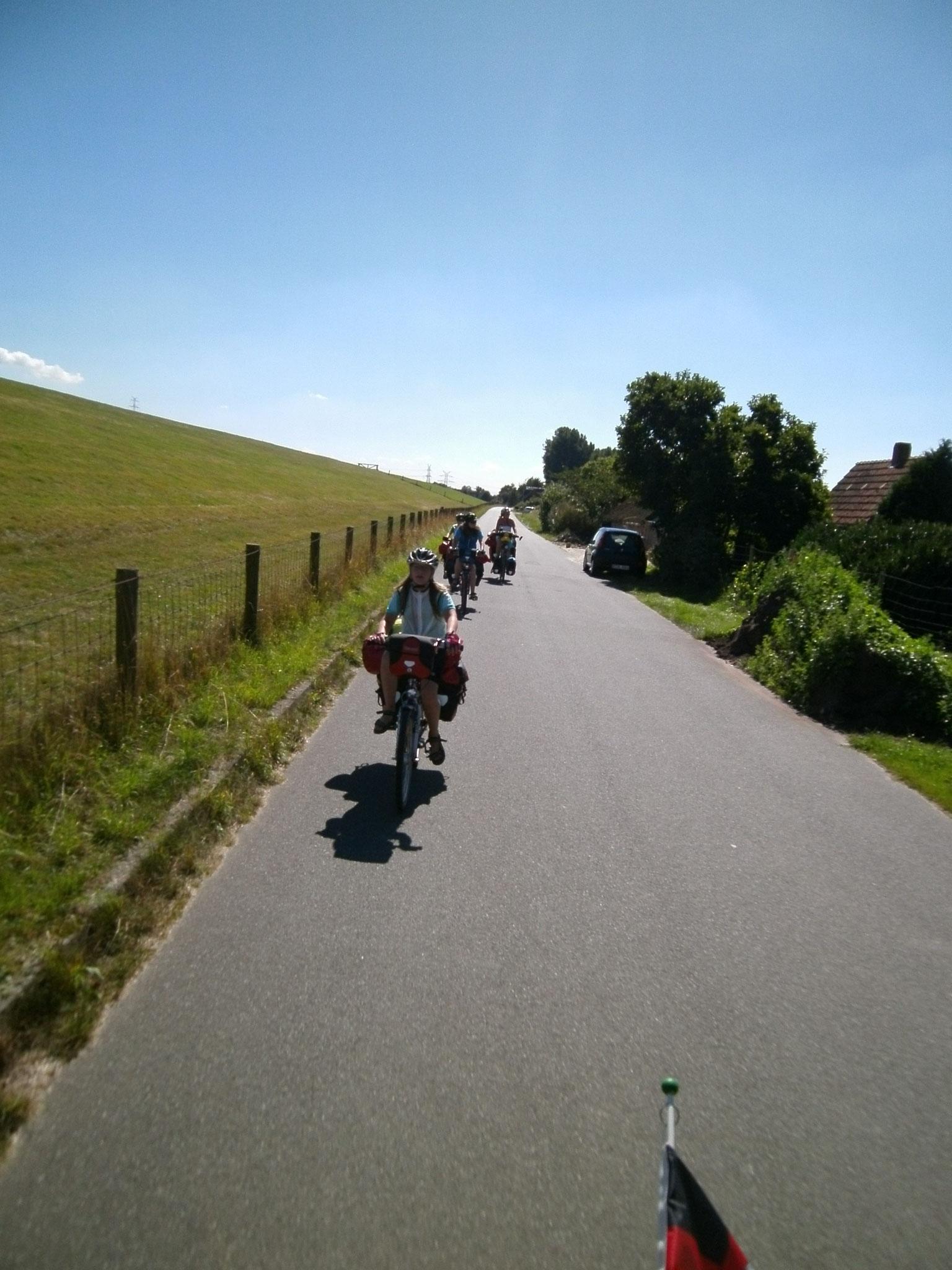 Hinterm Deich zwischen Juliusplate und Bremerhaven