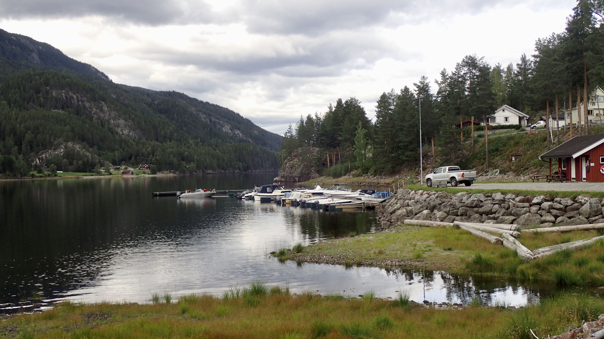 privater Bootsanleger in Tinnoset