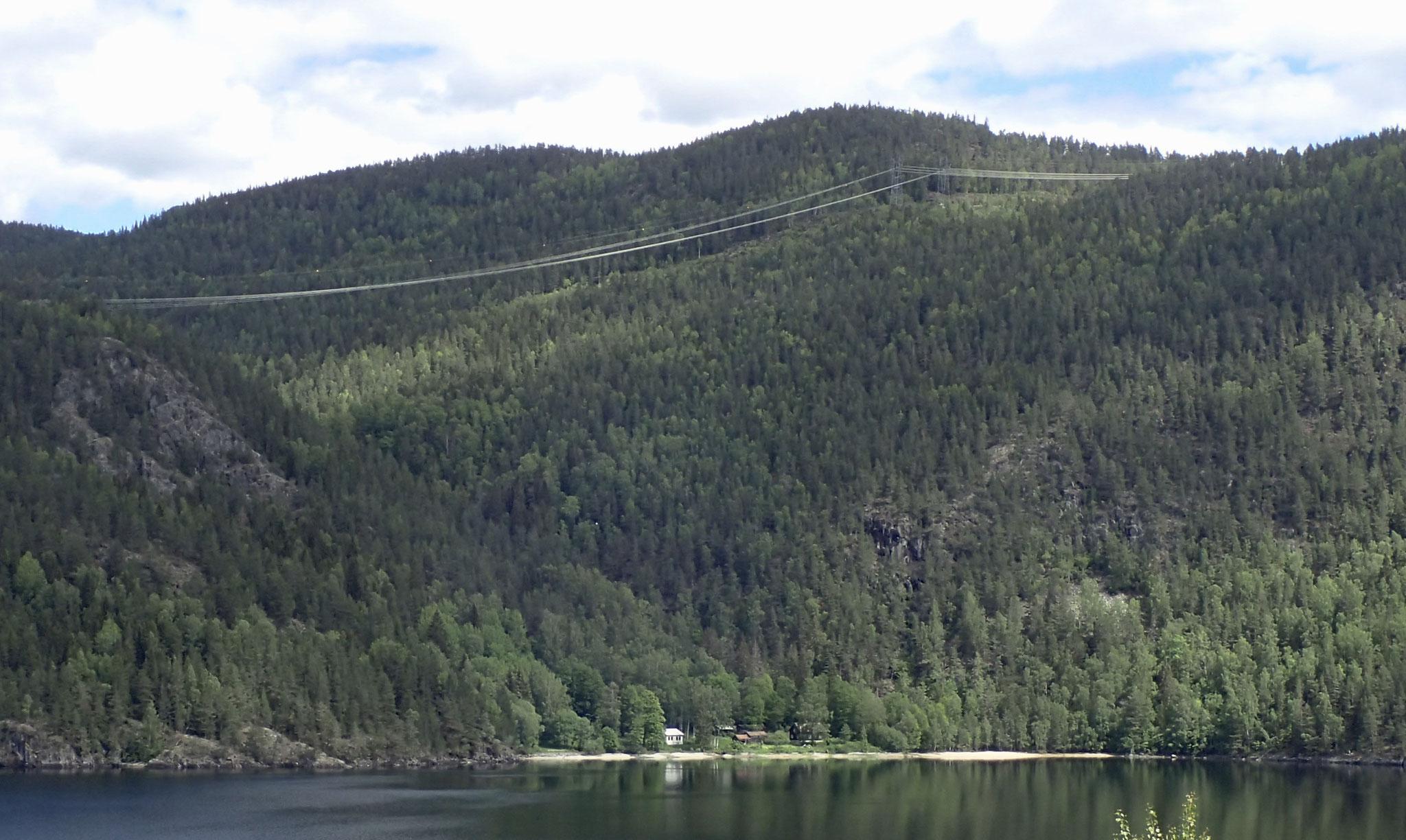 Sandvika vom anderen Ufer aus
