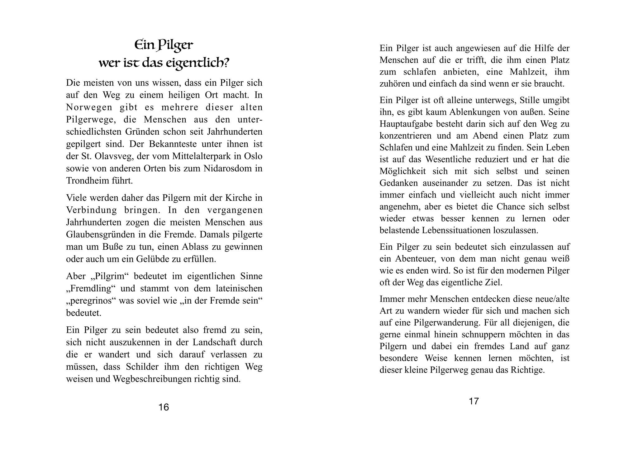 """Pilgerführer """"Die weißen Kirchen am Tinnsjø"""" - ein Pilger"""
