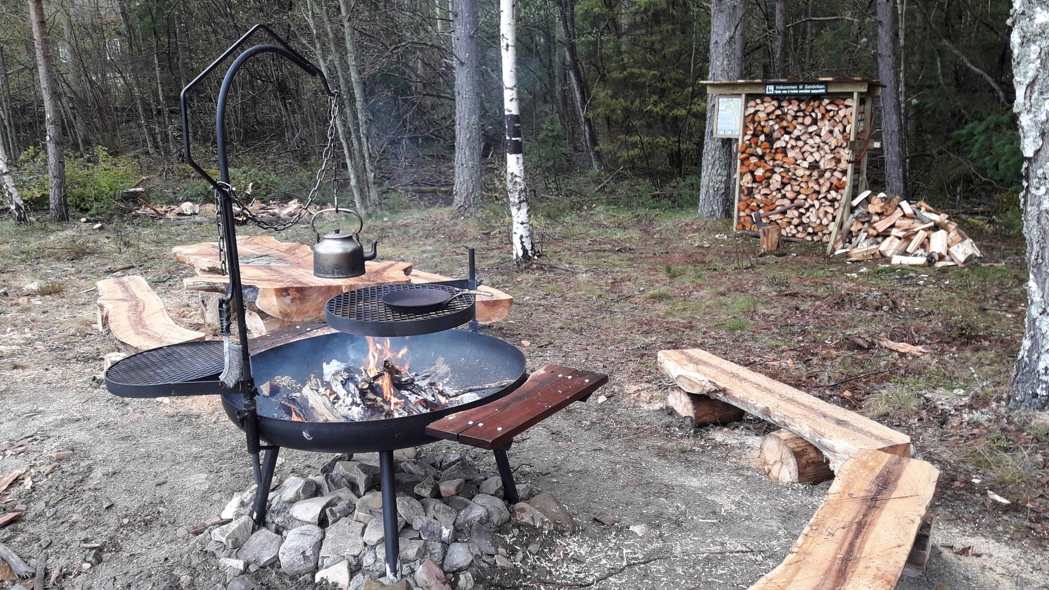 new BBQ area