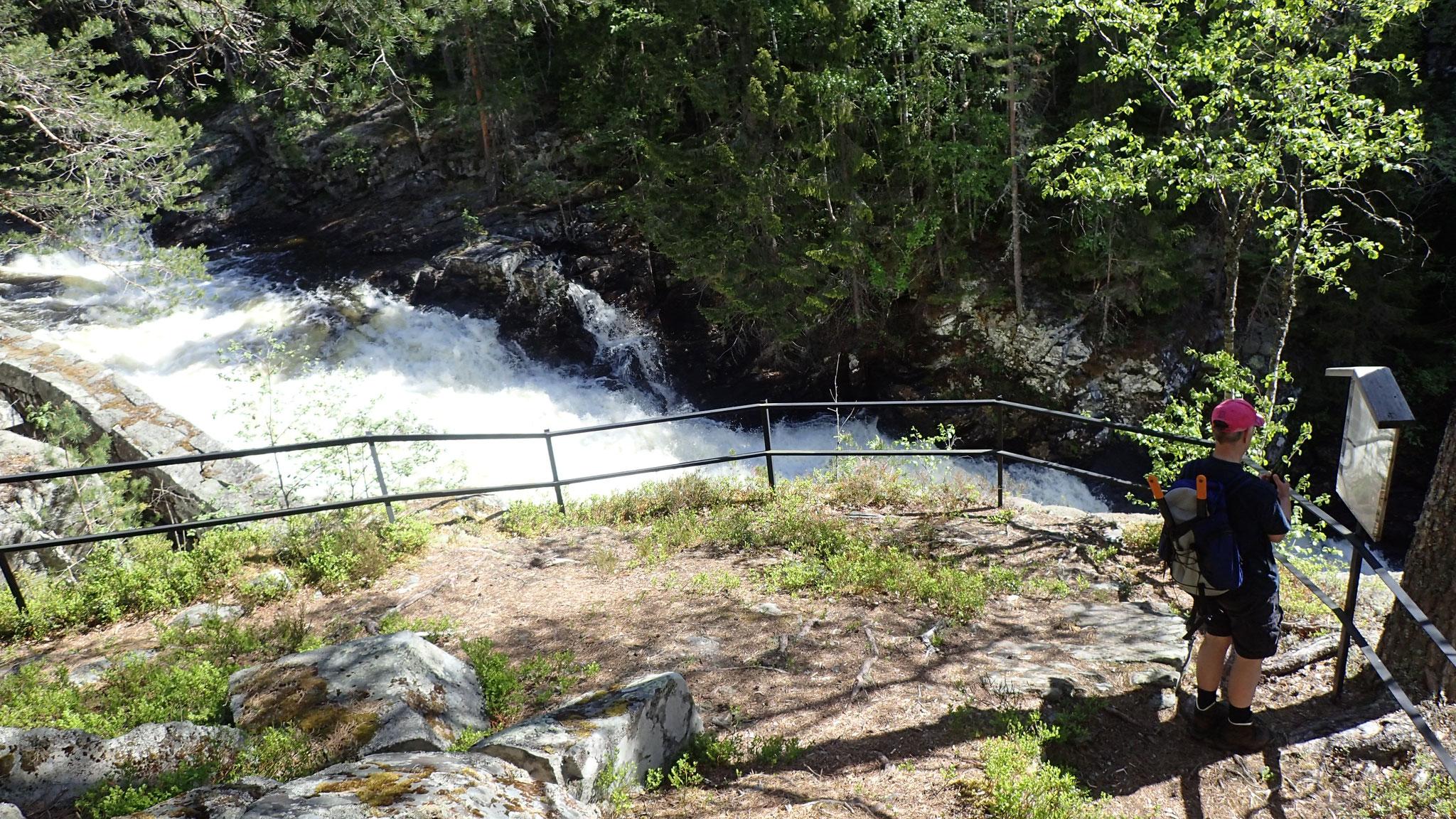 Aussichtsplattform über dem Rauatunnelen und Rauawasserfall