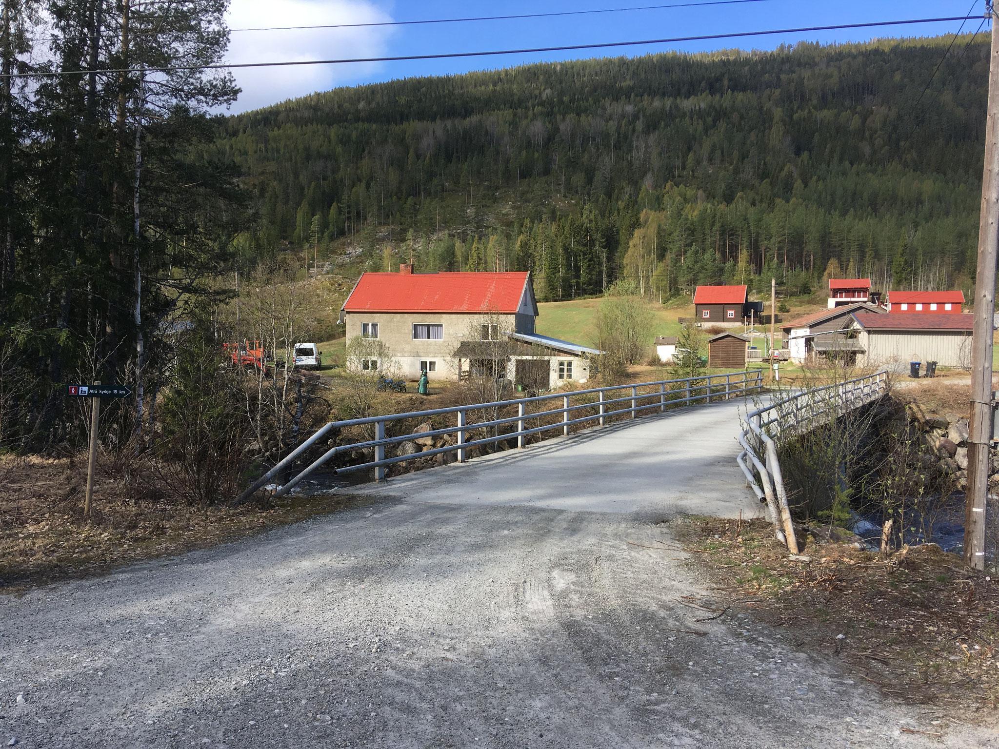 Brücke über Austbygdåe
