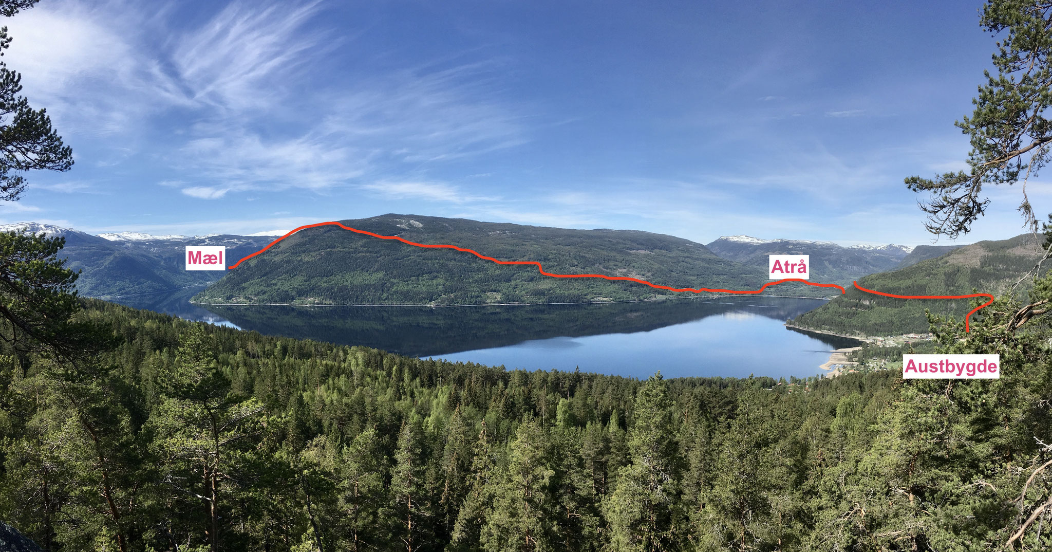 fra her kan du se hvor pilegrimsveien gå videre de neste dagene