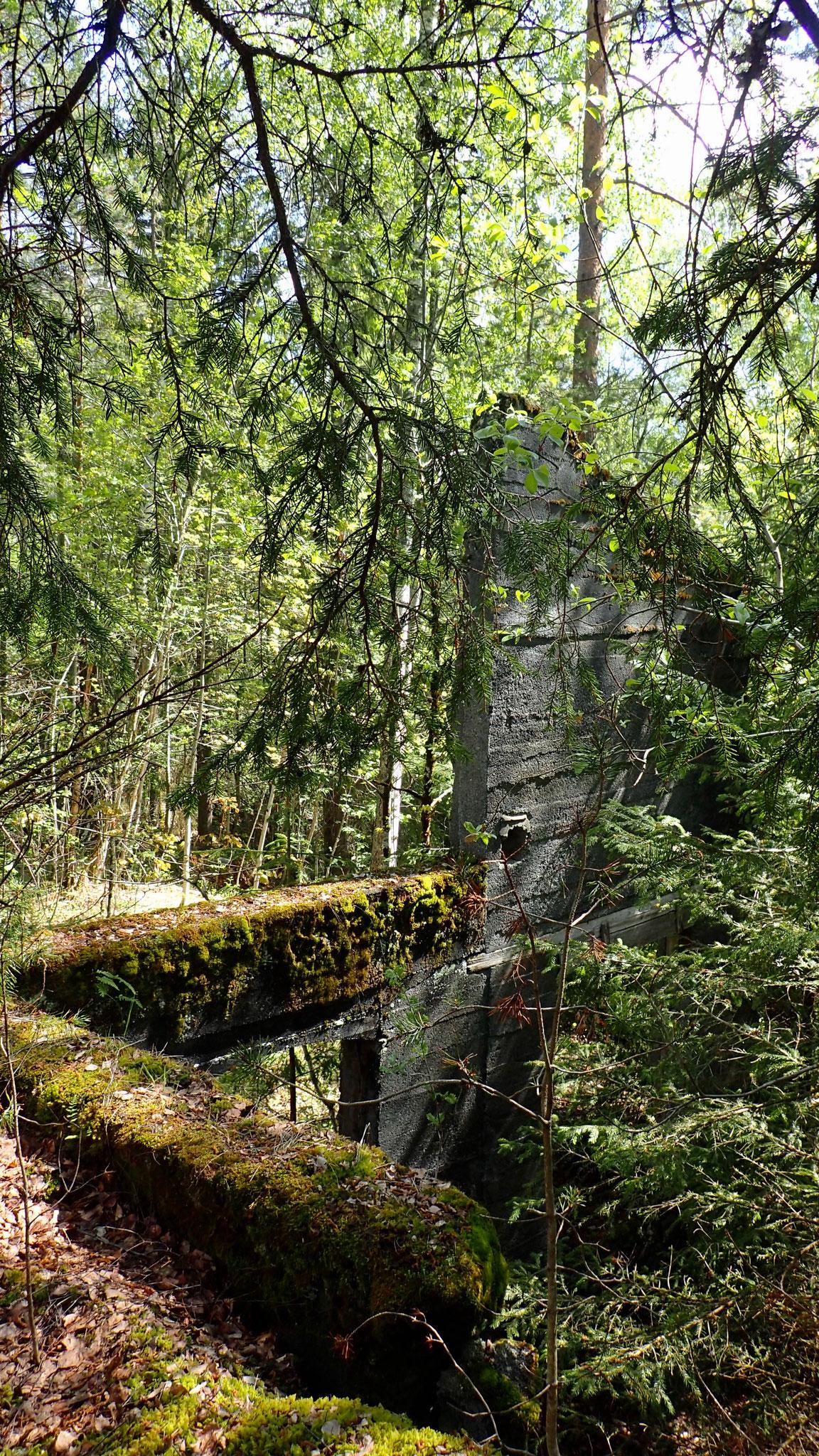 Mauerreste einer Wäscherei der Tinnsjø Kupfermiene