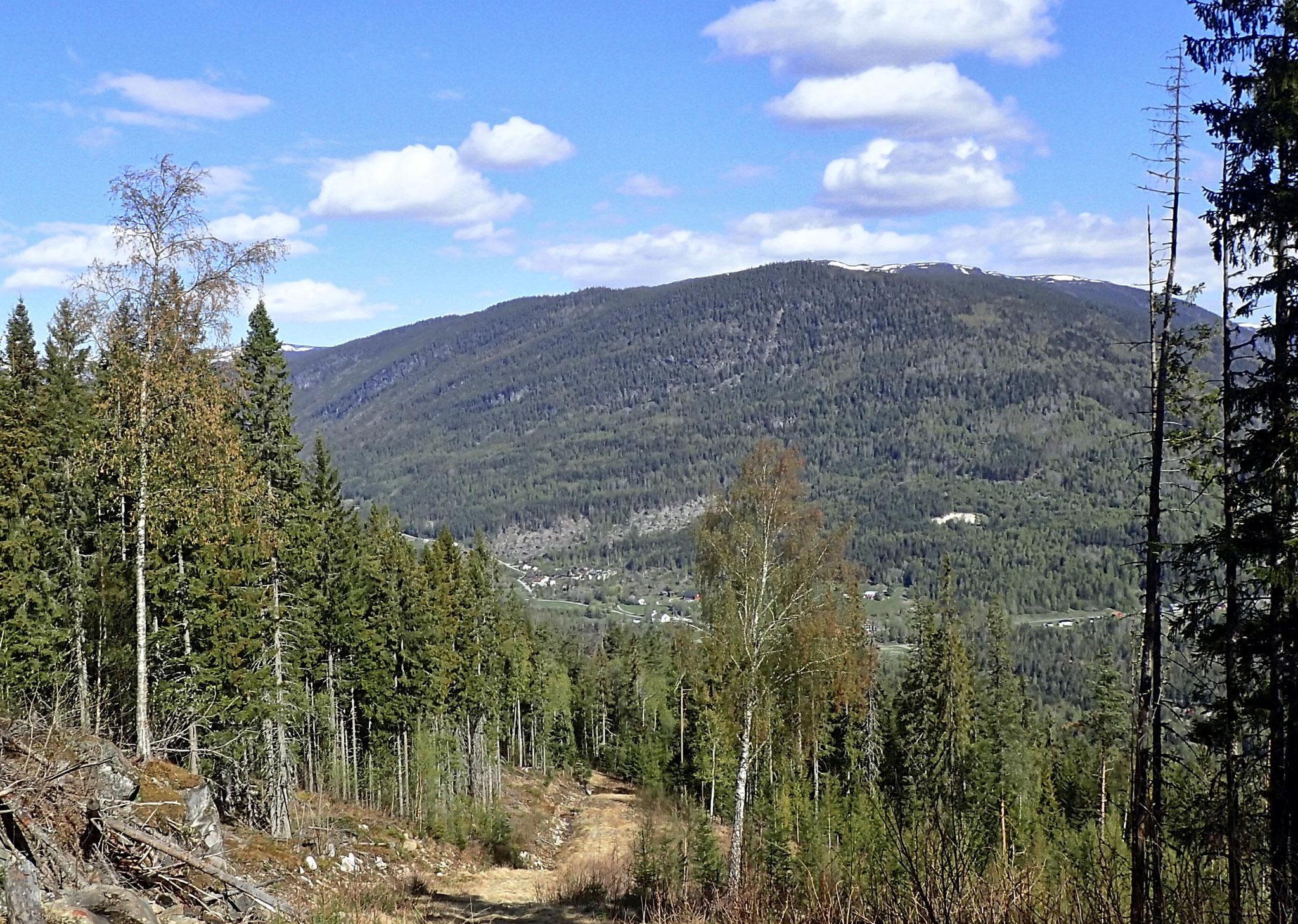 view back to Atrå church