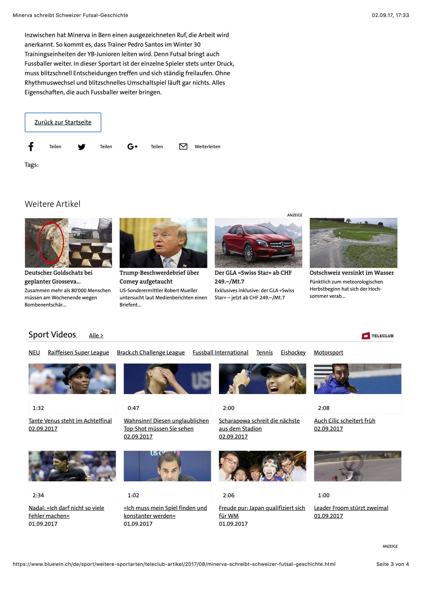 Bluewin Sport - 28. August 2017 - S. 3