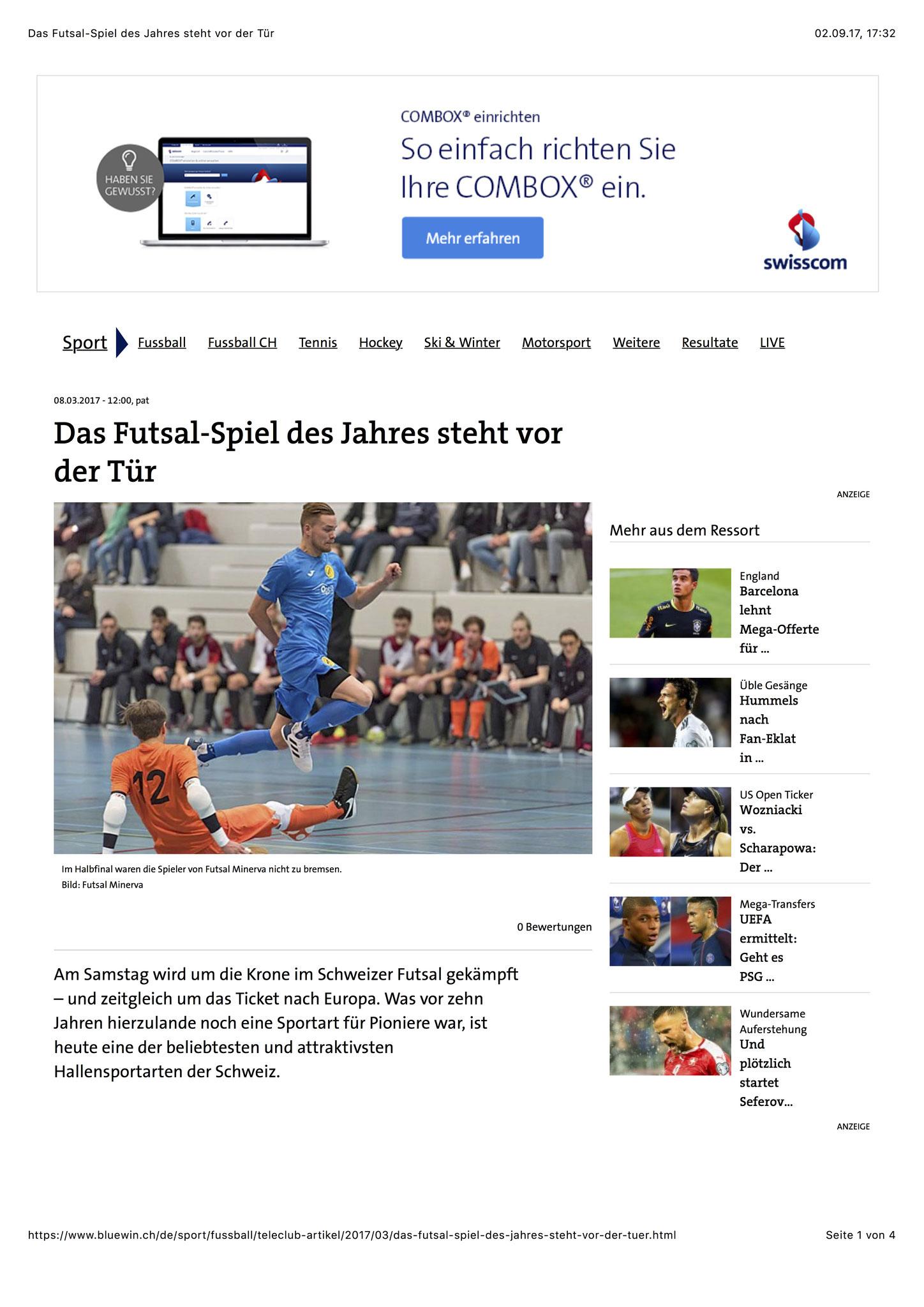 Bluewin Sport - 08. März 2017 - S. 1