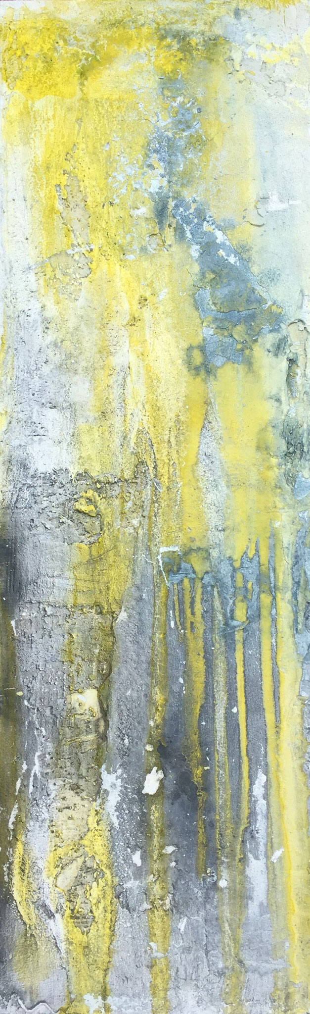 Grau gegen Gelb, 90x30x4cm