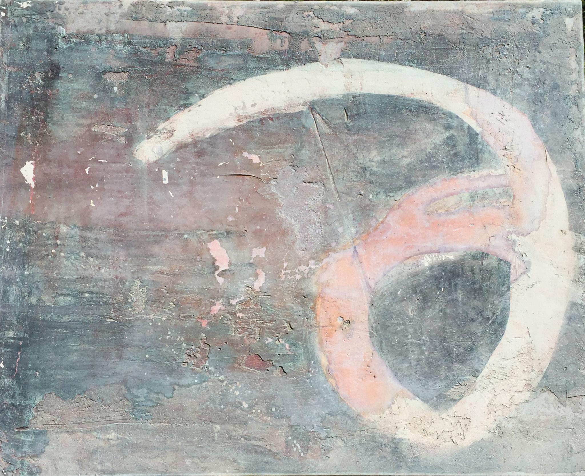 Kryptisch, 70cm x 1m, Steinzeichen