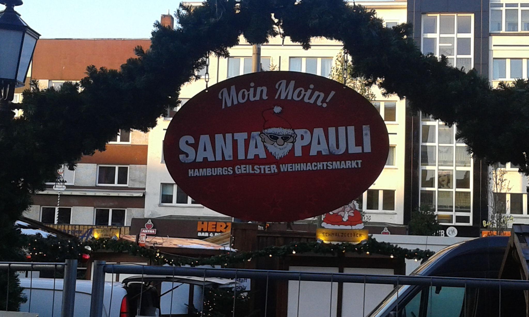 Weihnachtsmarkt 2016 vor der Eröffnung - Spielbudenplatz Hamburg St. Pauli