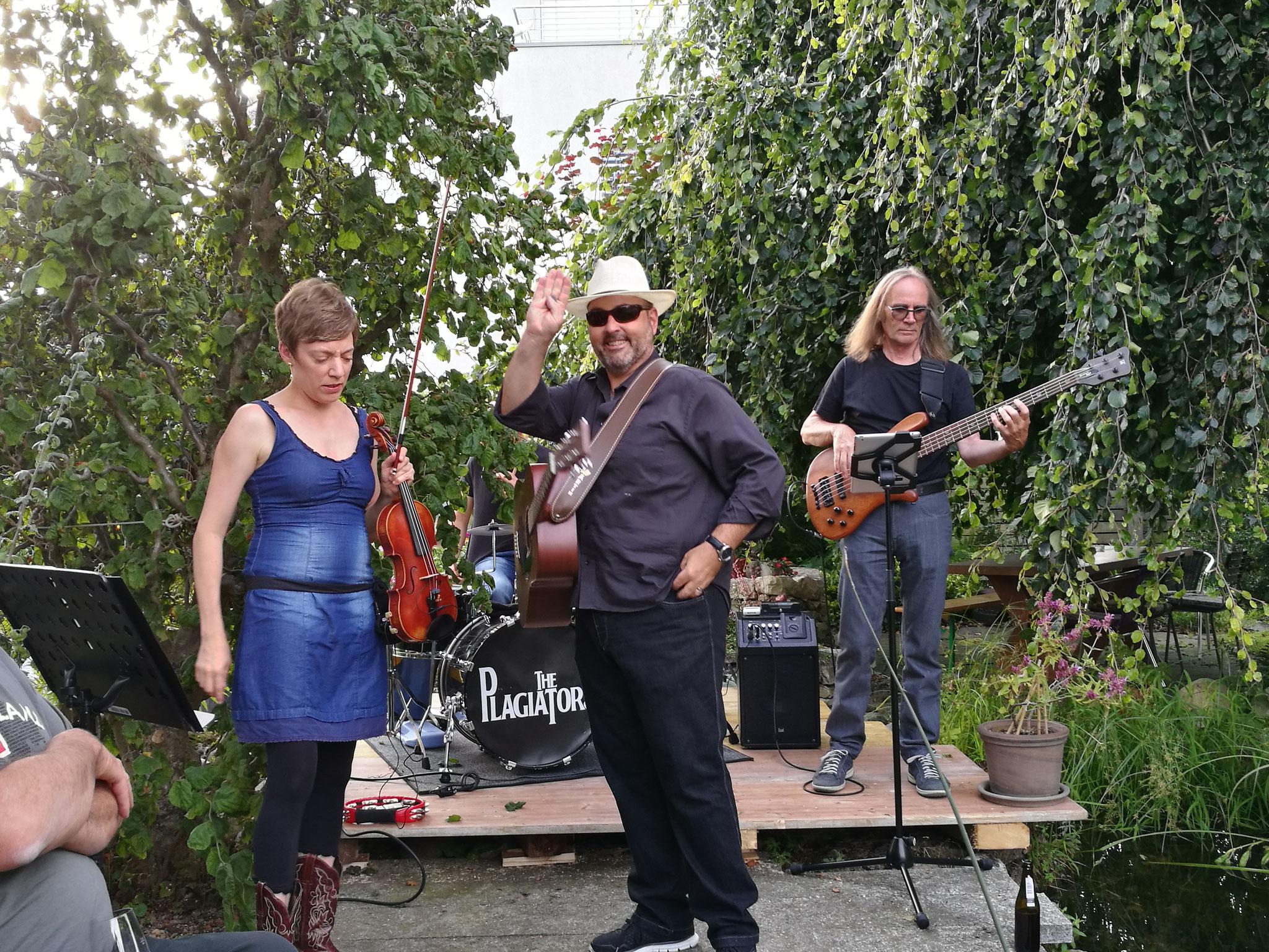 Band am See: The Plagiators im Garten von Angie und Peter Schaufelberger