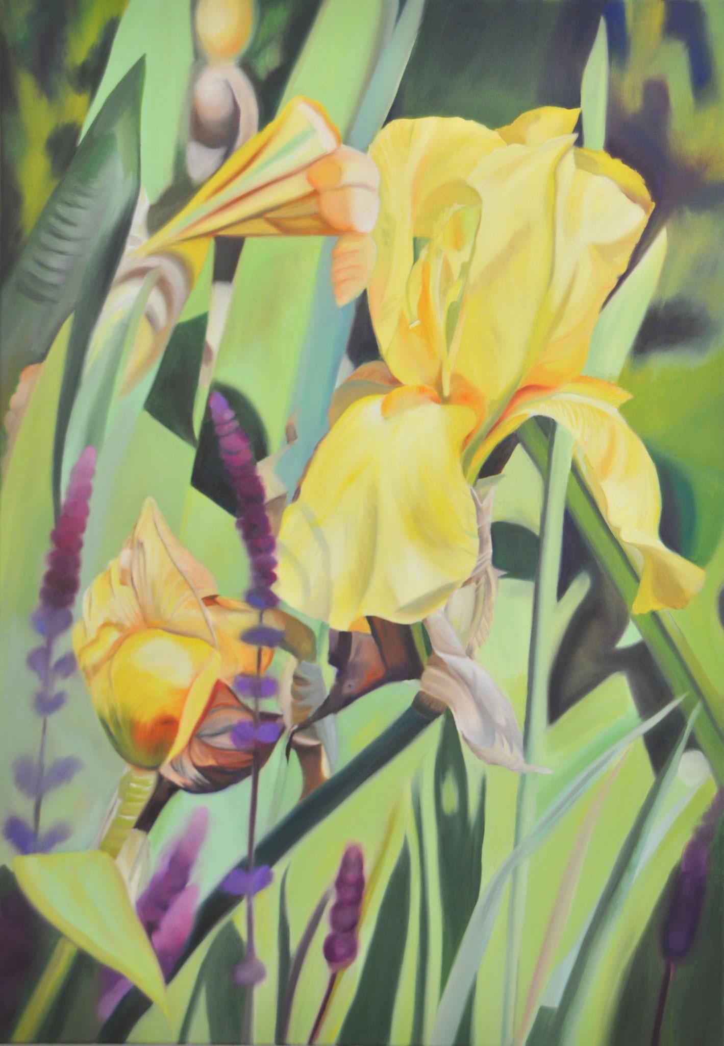 Gelbe Lilie, 100 x 70 cm