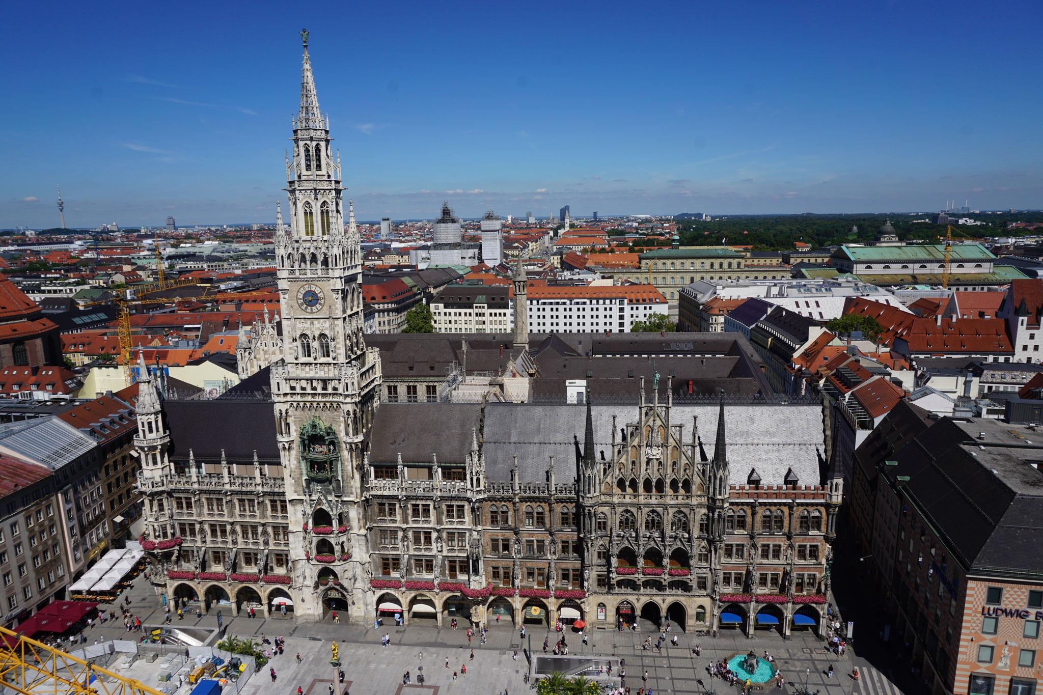 Das Münchner Rathaus am Marienplatz