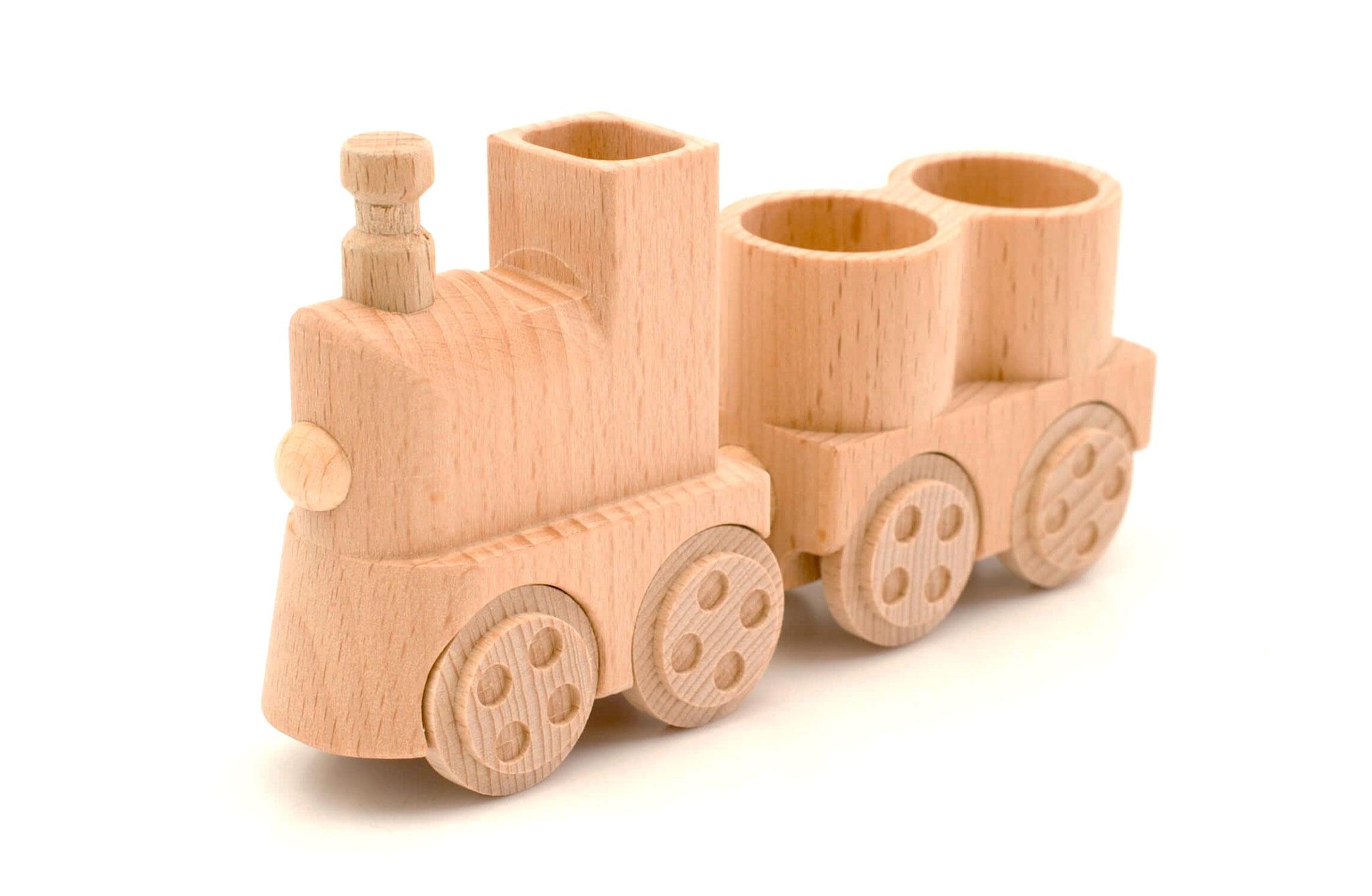 Holzeisenbahn mit Silowagen