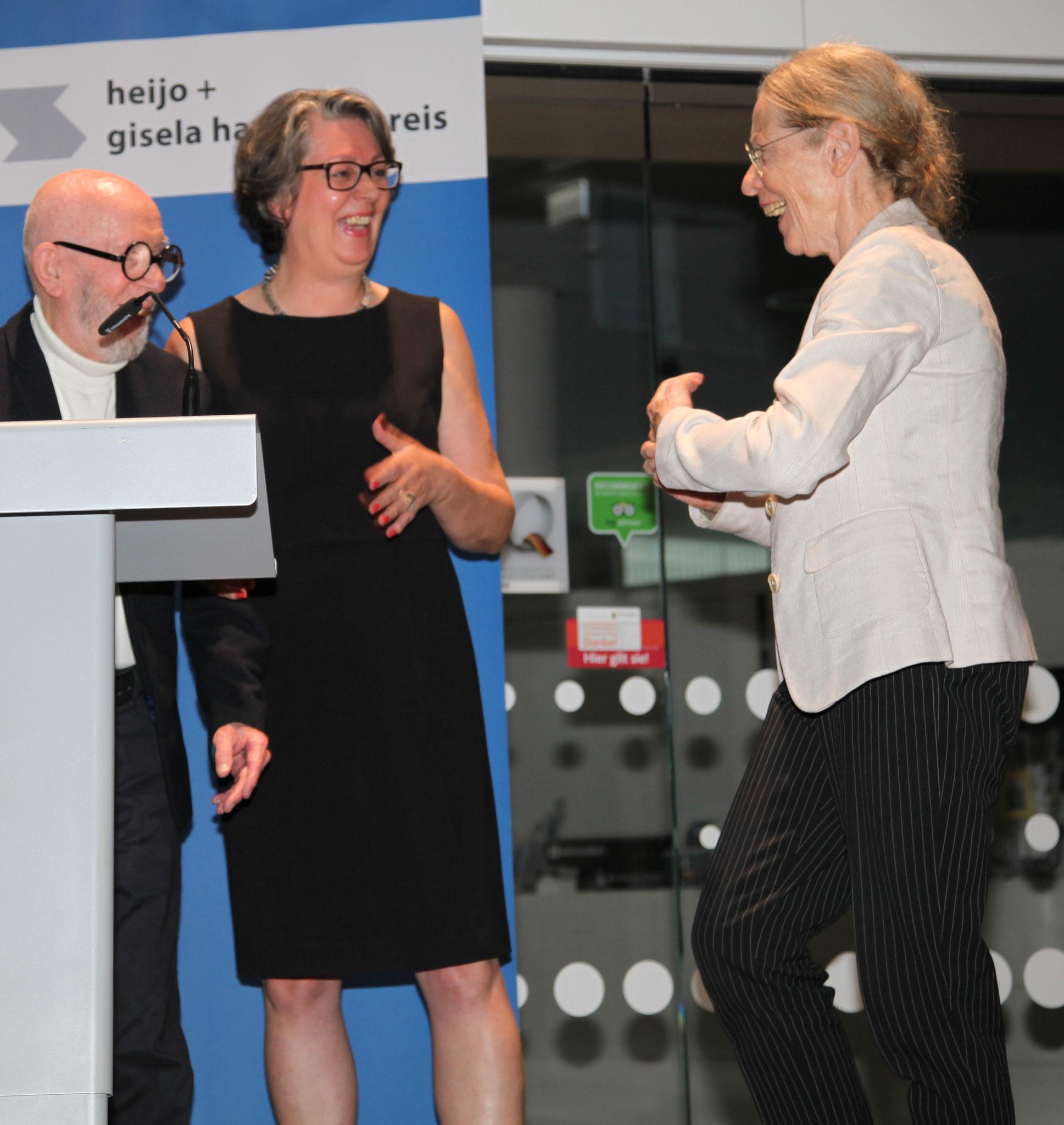 v. li.: heijo hangen, Claudia Blum-Frerichs, Susanne Linke