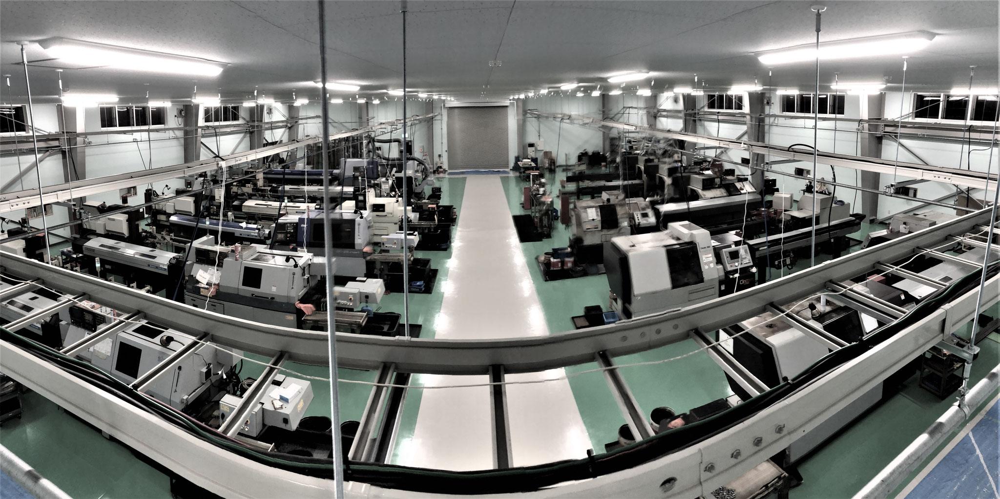 CNC自動旋盤工場内観