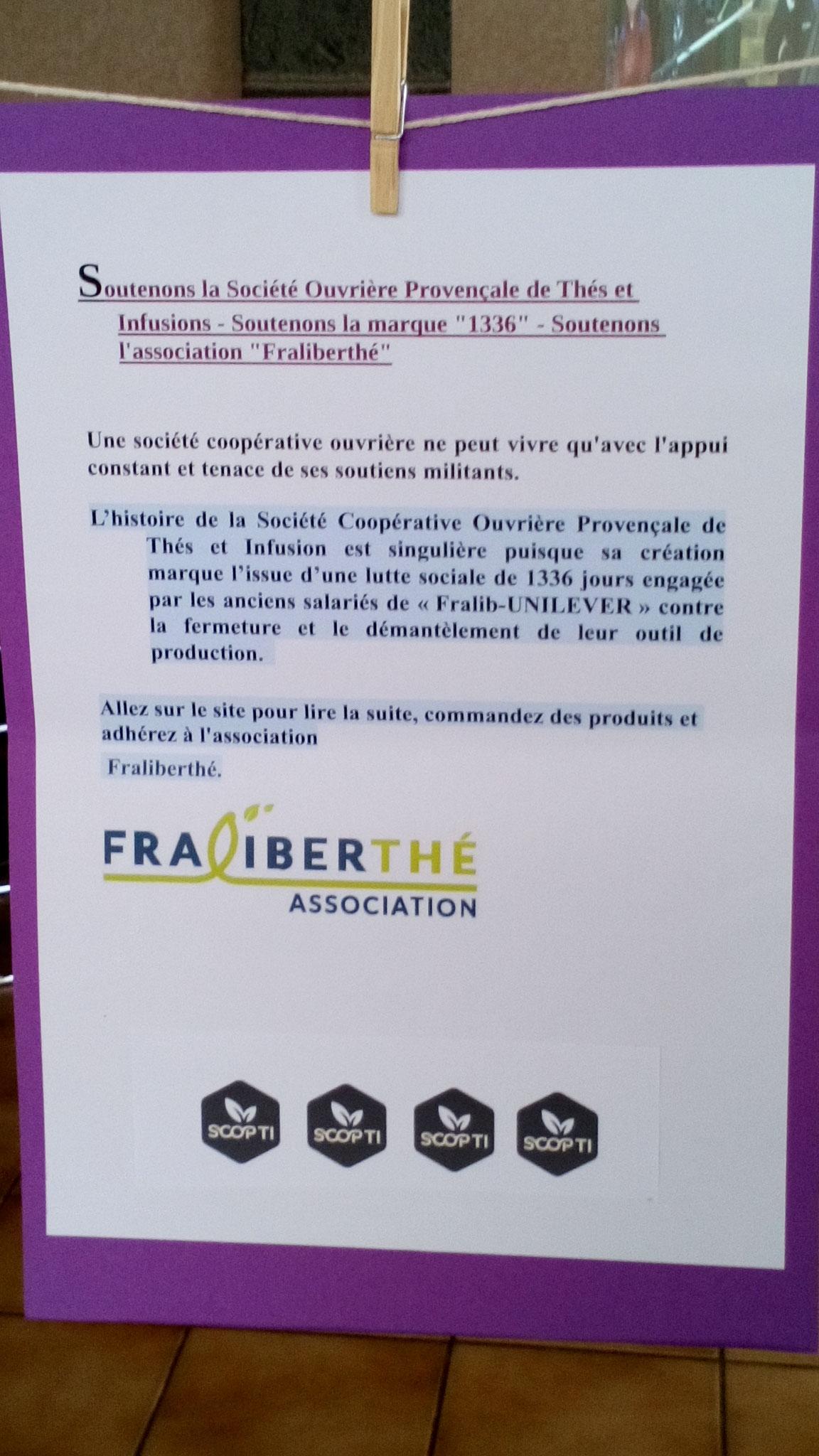exposition sur 1336 / Fralib