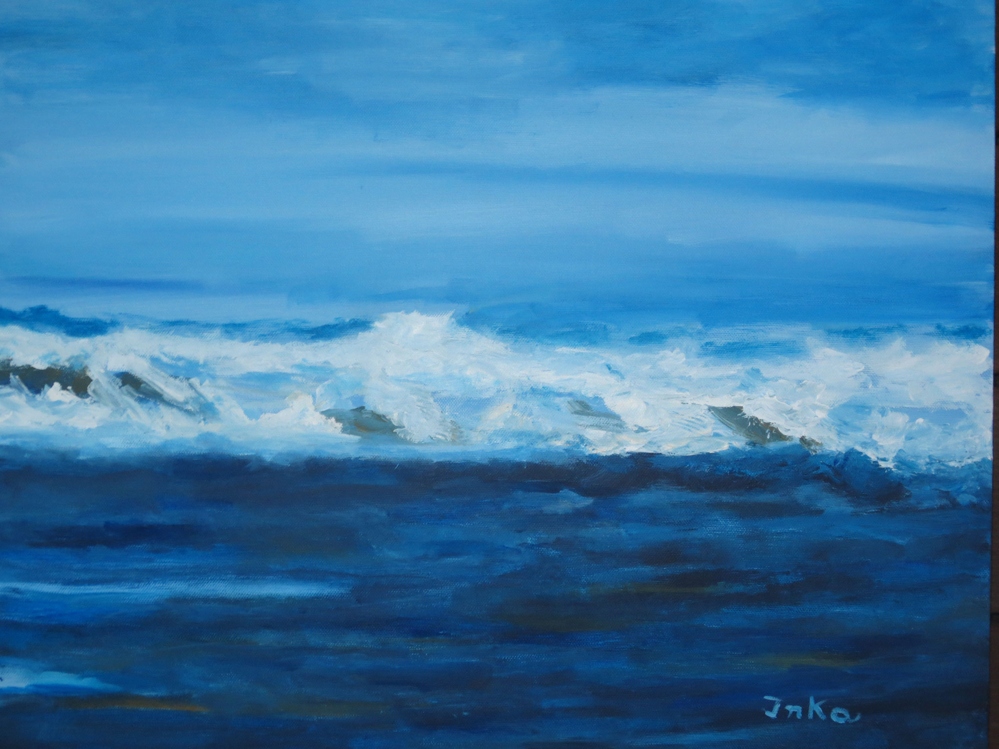 Tosendes Meer (60 x 50)
