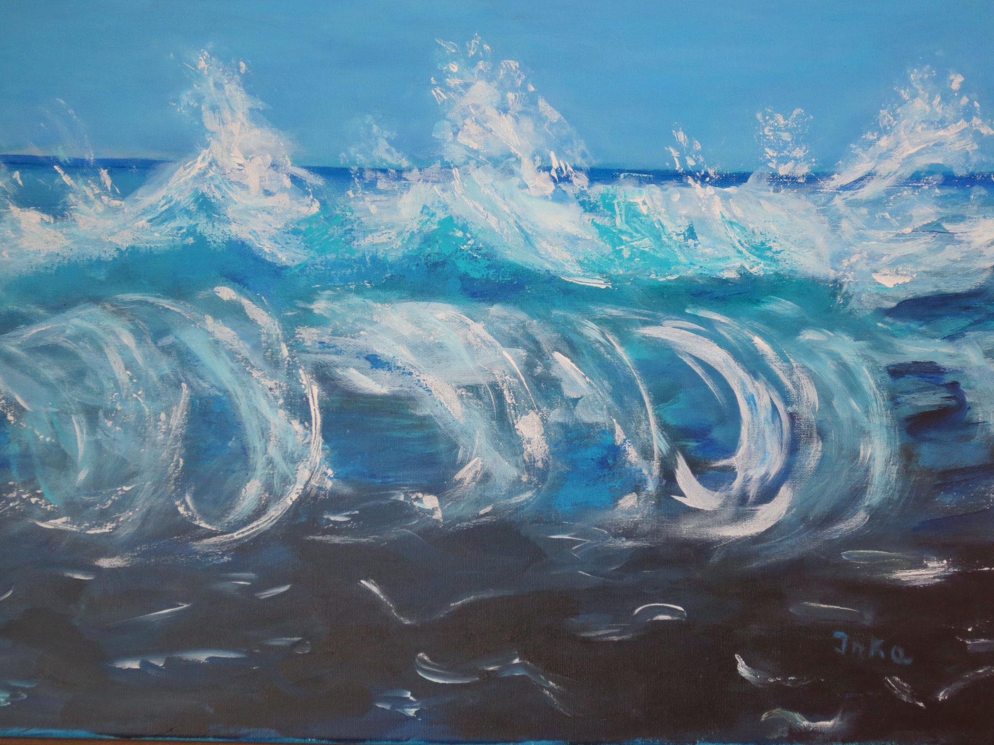die grosse Welle (50 x 60)