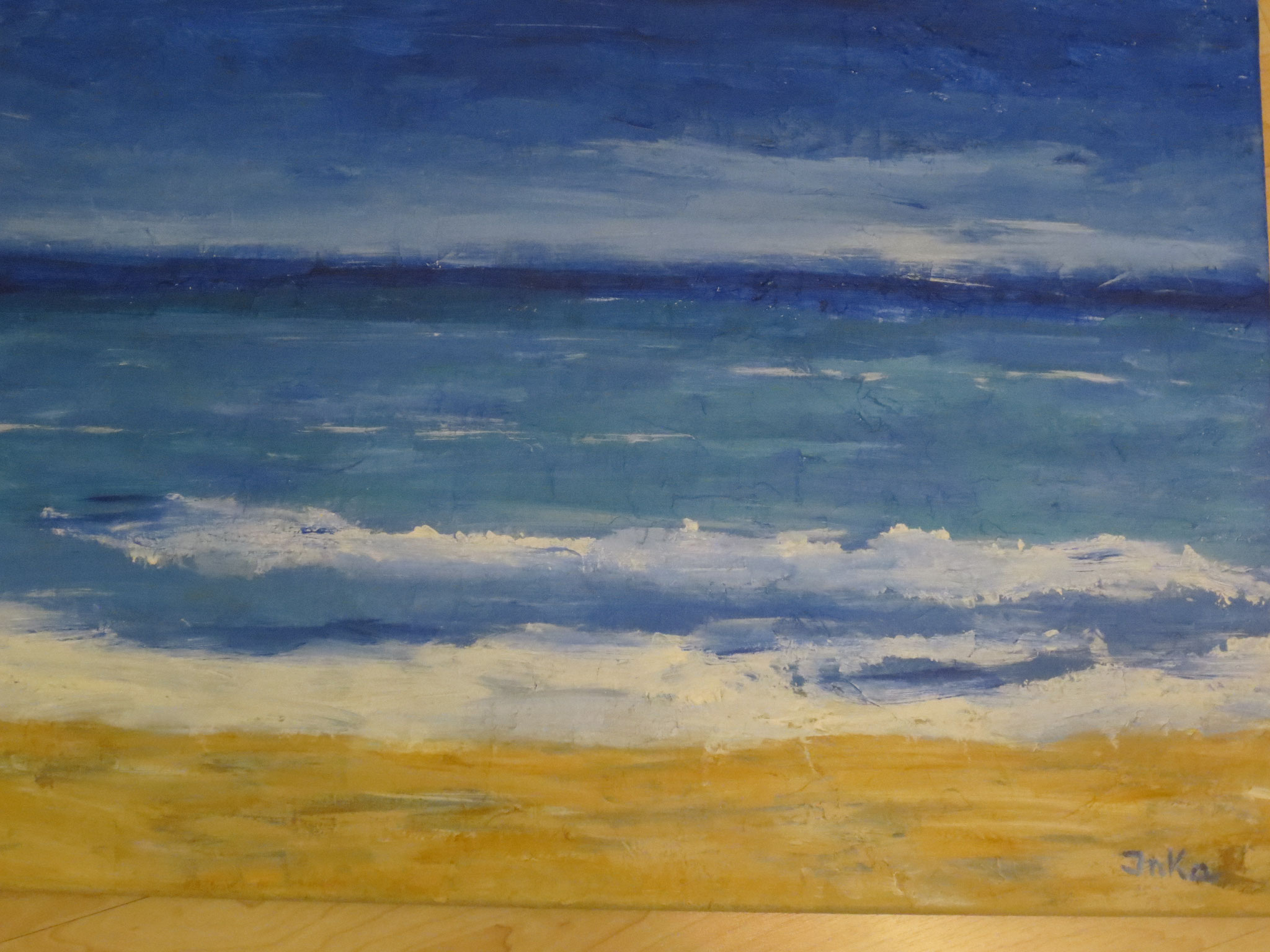 Strand in Oostende (50 x 70)