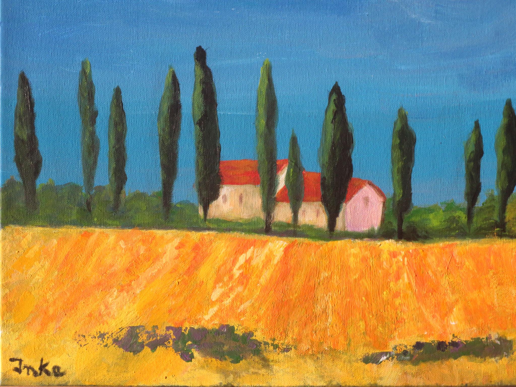 Frühling in der Toscana (40 x 40)