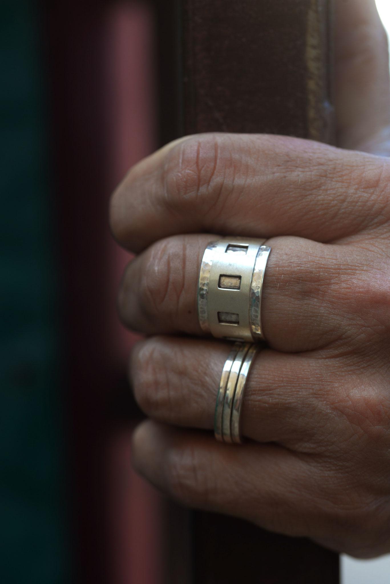 SL-Créations bijoux contemporains à Toulouse - Bagues hommes ou mixtes en argent