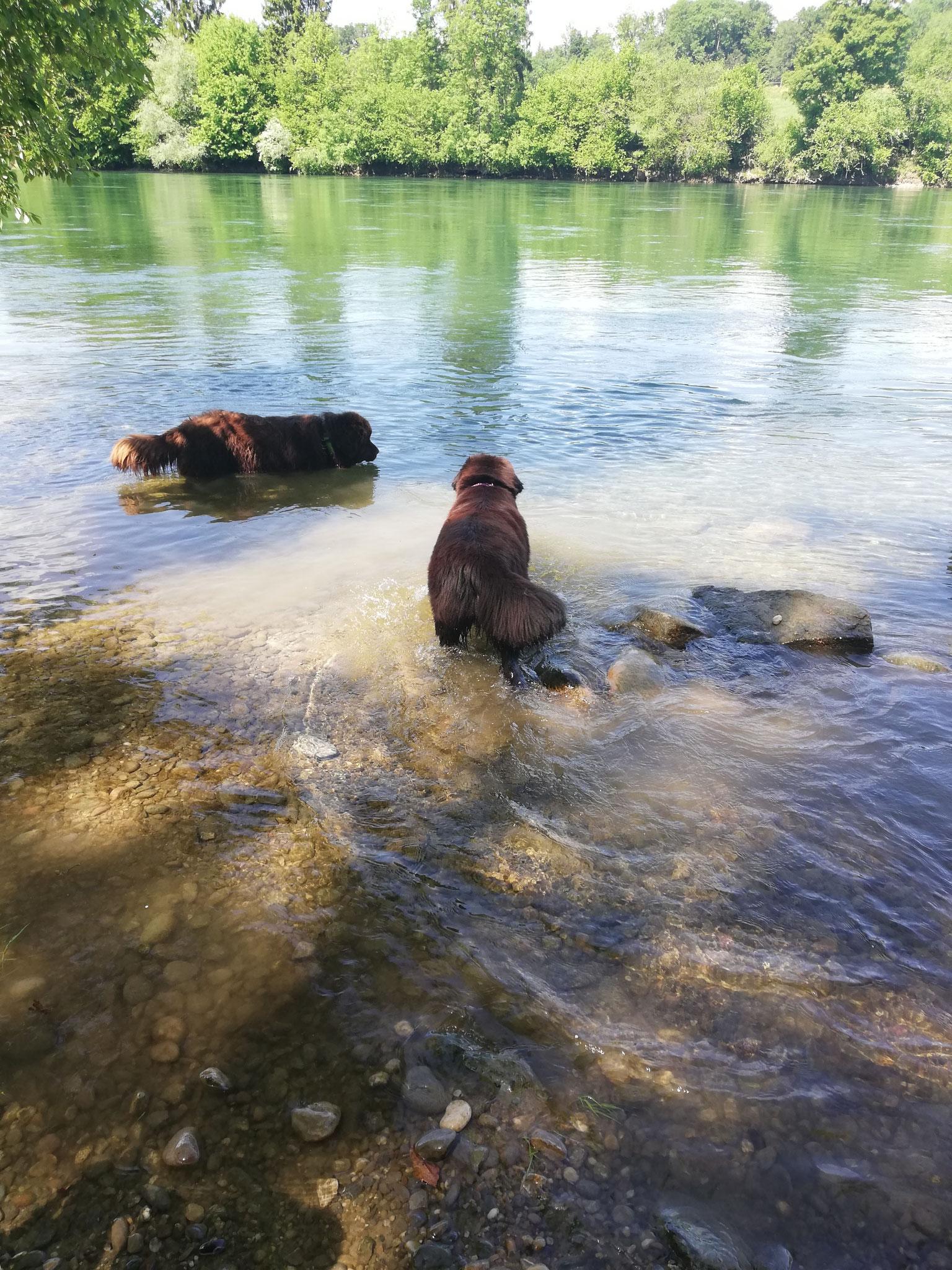 Beim baden