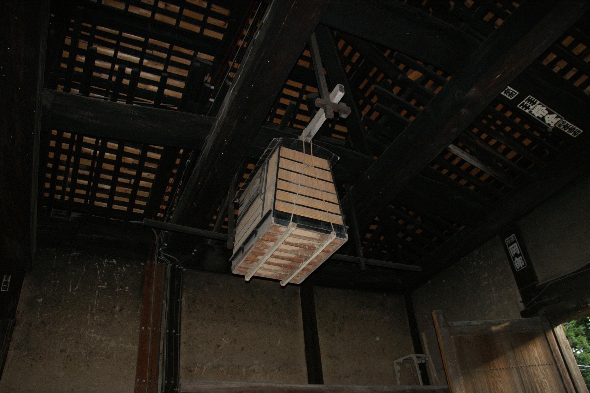 晋山式に用いた旧御籠