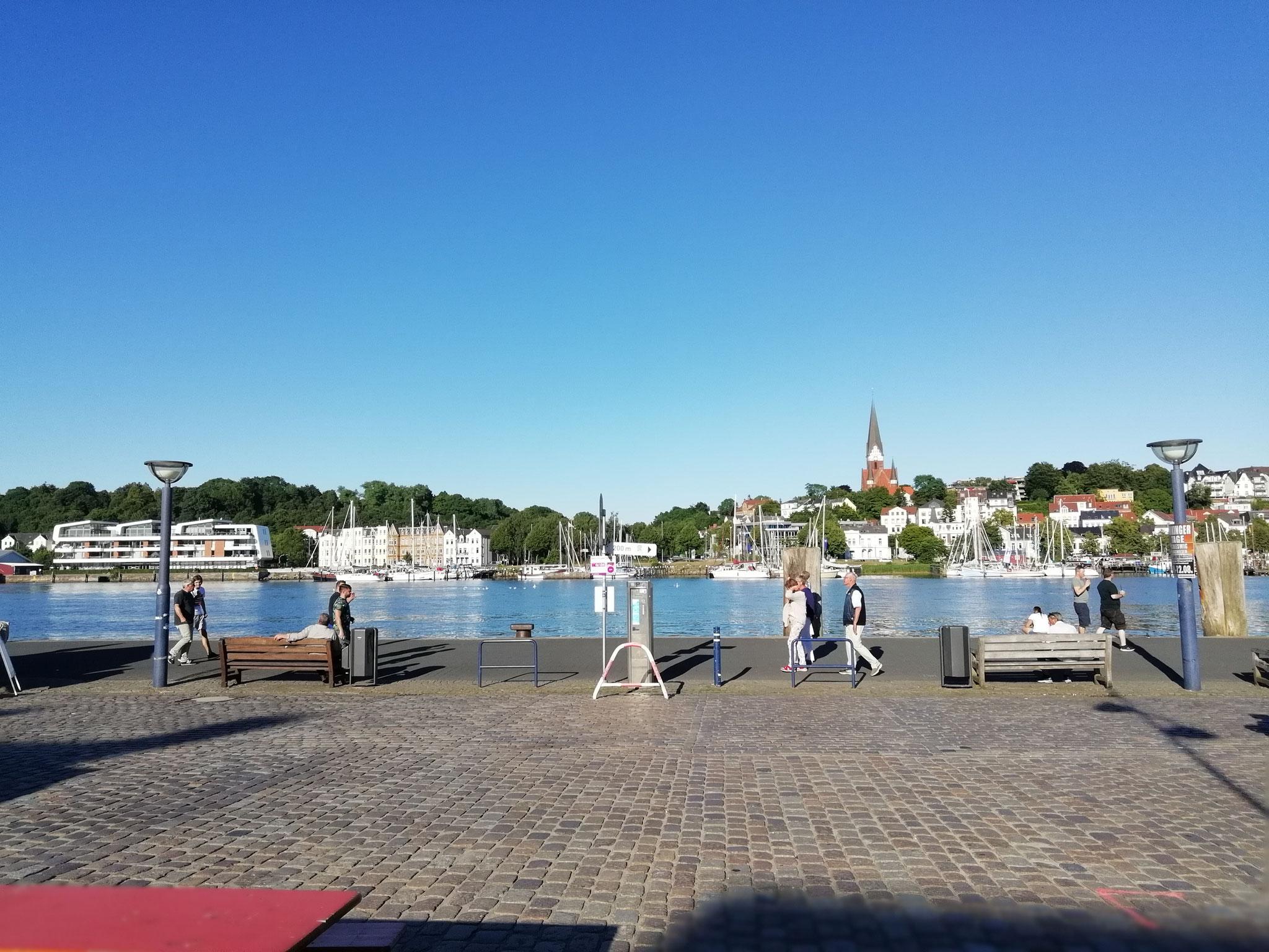 Was hatten wir für ein Glück mit dem Wetter! Ist Flensburg nicht schön?