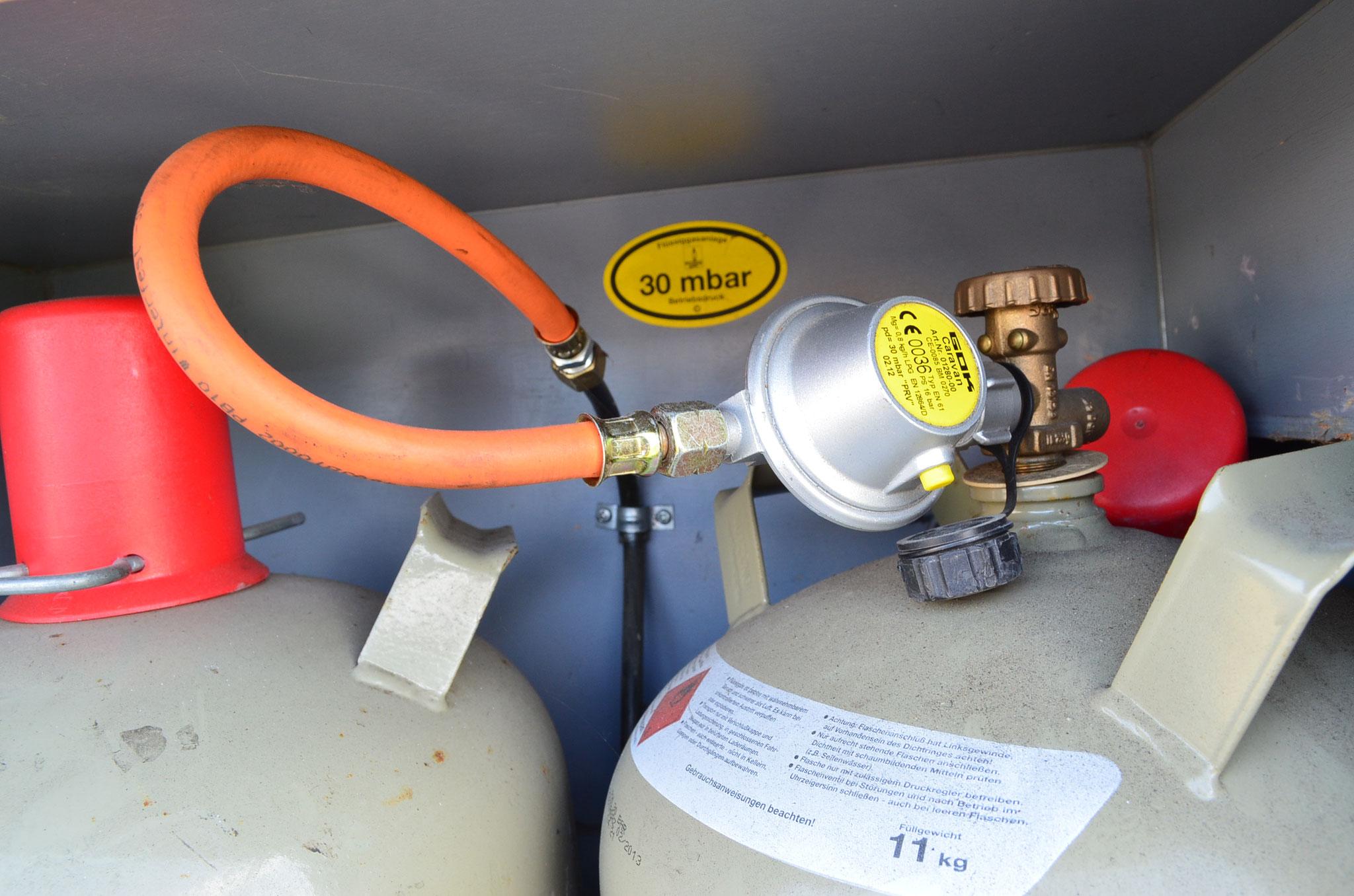 Druckregler und Druckschlauch