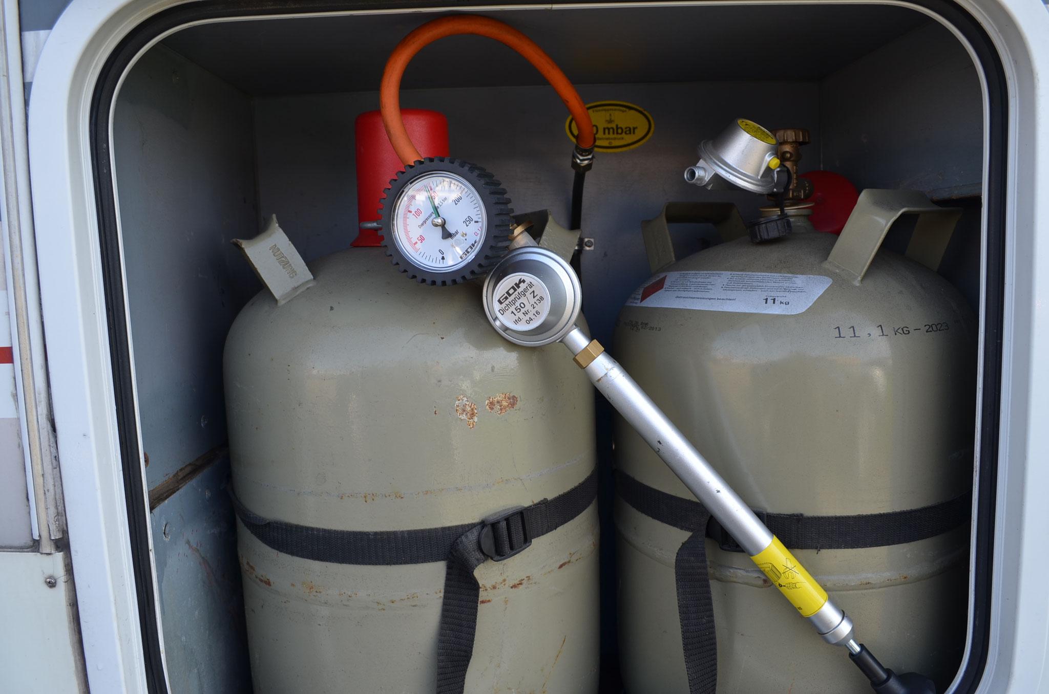 Dichtheitsprüfung der Gasanlage