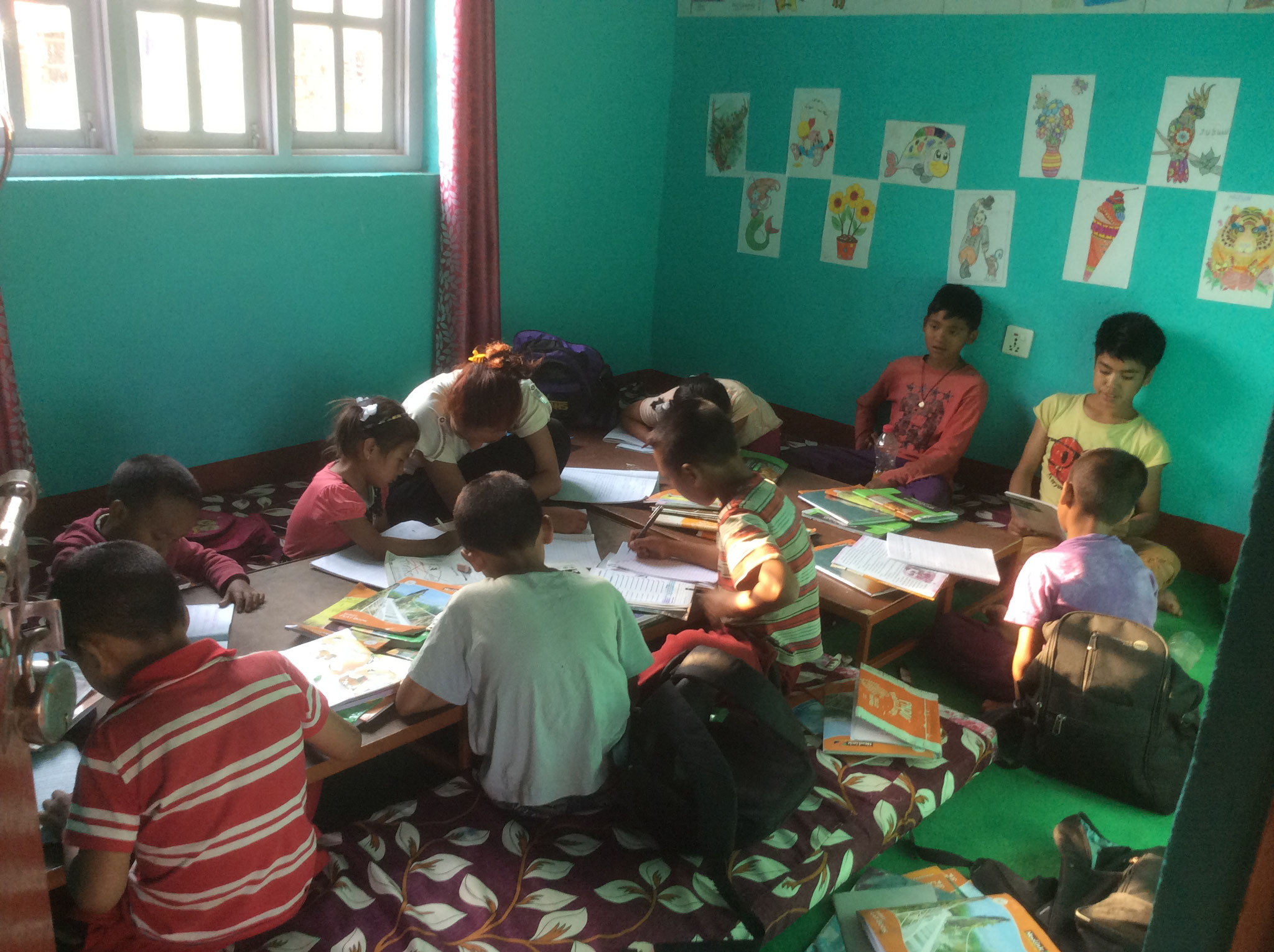 Schoolroom in the house