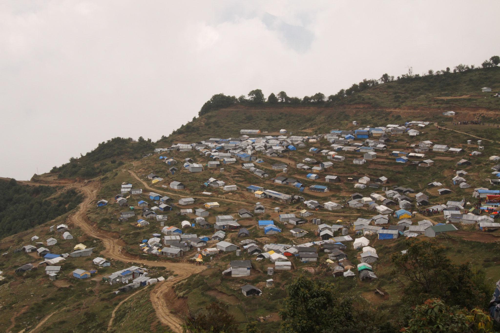 ein neues Dorf wird gebaut - Folge des Erdbebens