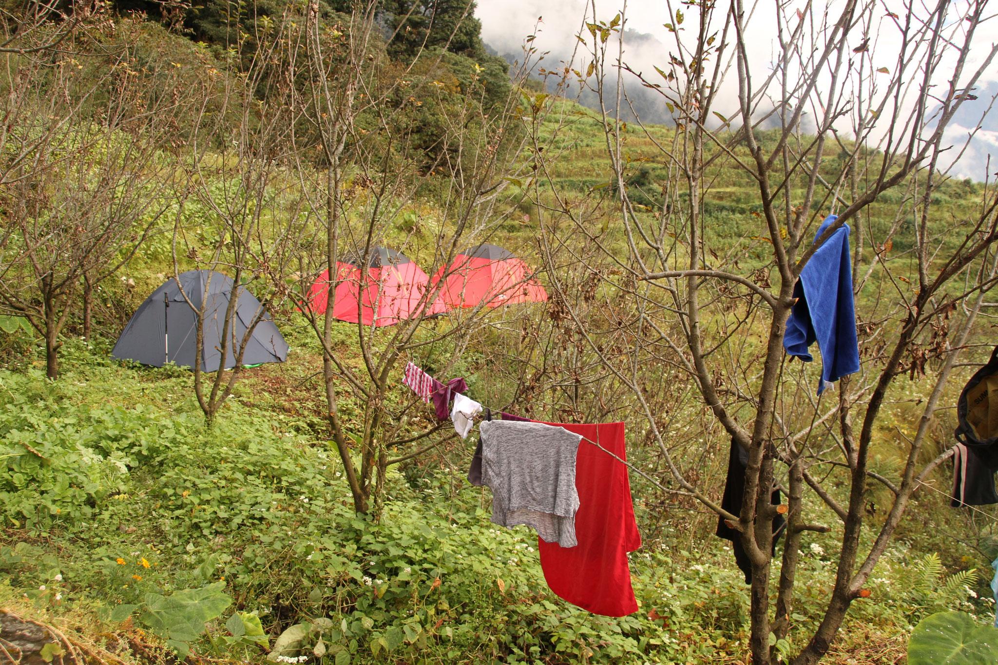 das Zeltlager der Besucher