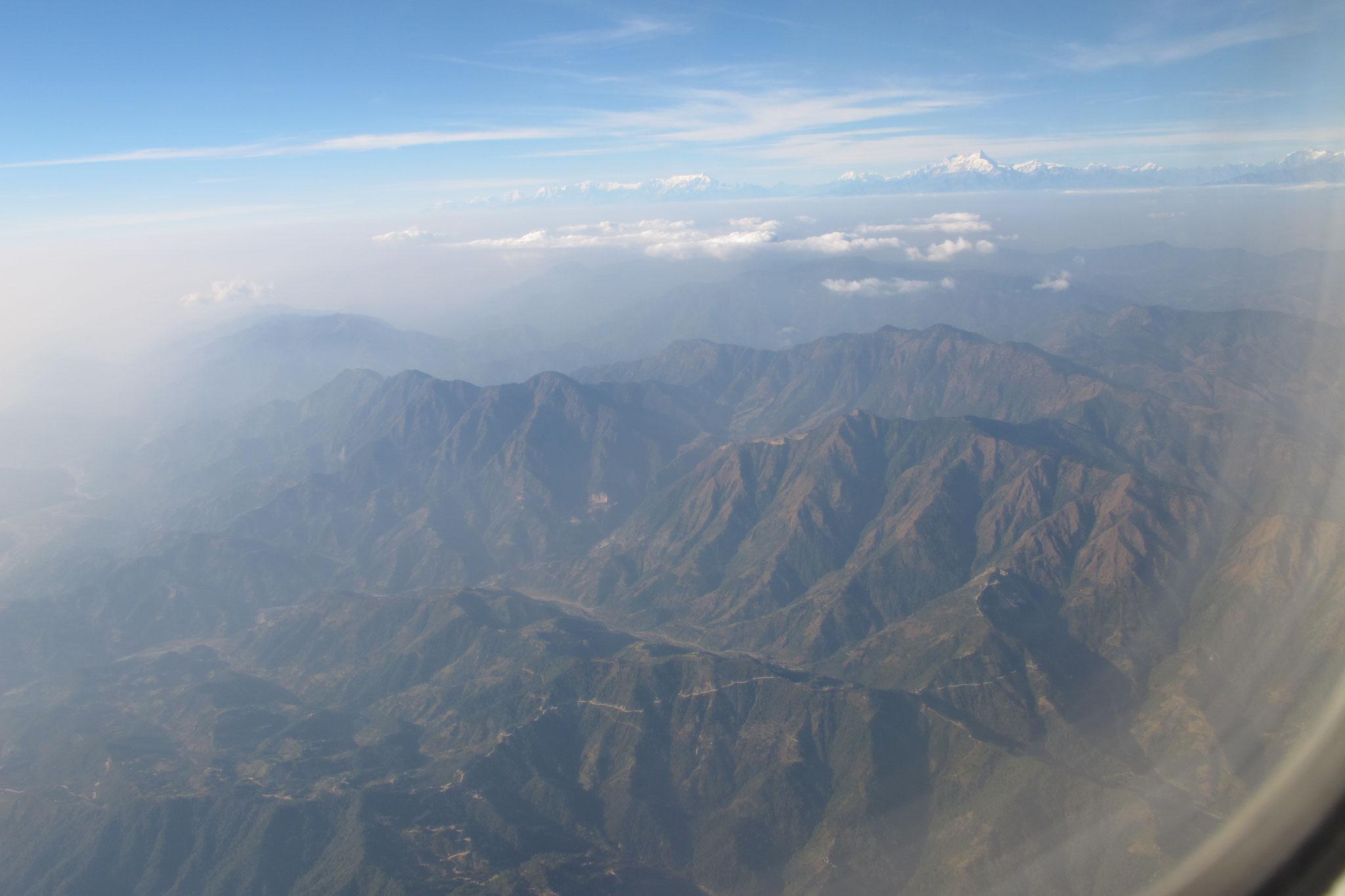 Anflug auf Kathmandu