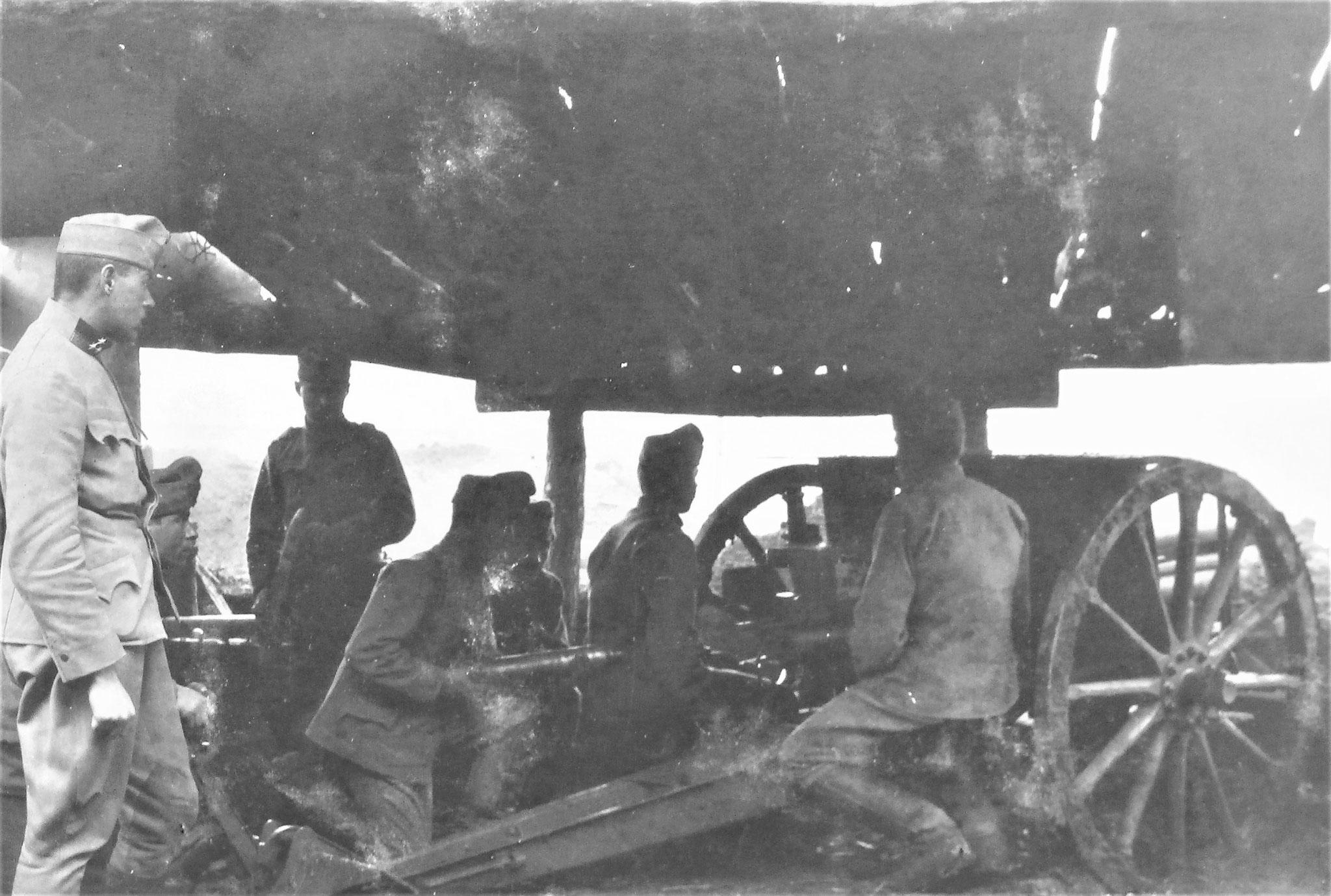 Sturmabwehrgeschütz des Subabschnittes.