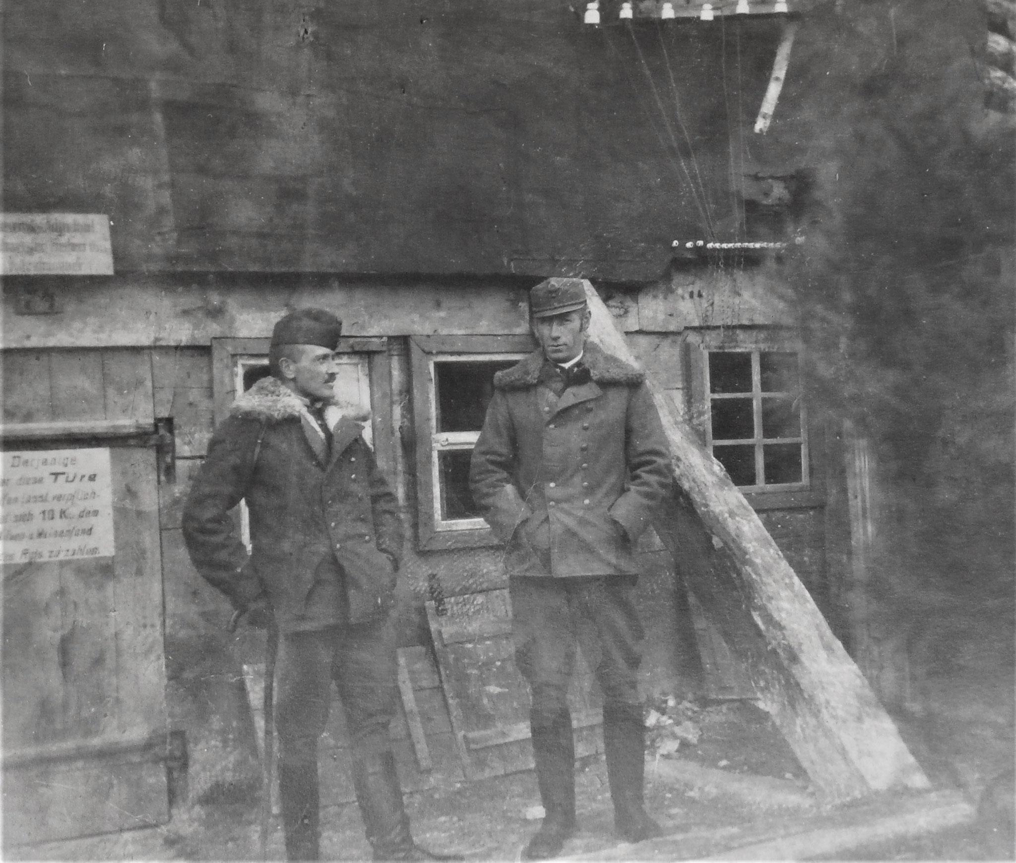 Winter 1917/18, Wysocko, mit verm. Stefan Kleinszig.