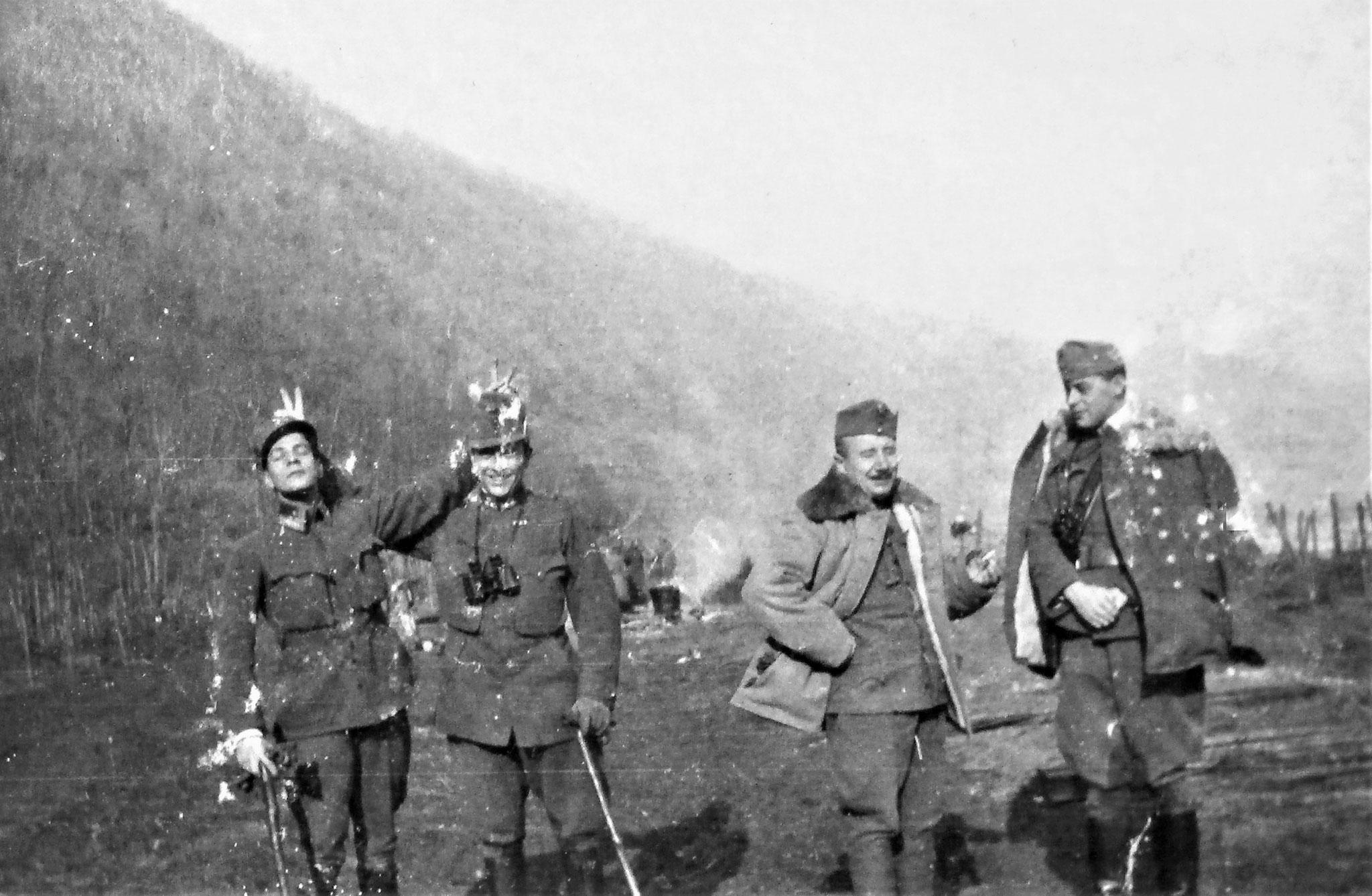 Max E. Attems, Erich Attems, Uram und Vizontay, RAD 6, Kmdt des Sturmabwehrgeschützes.